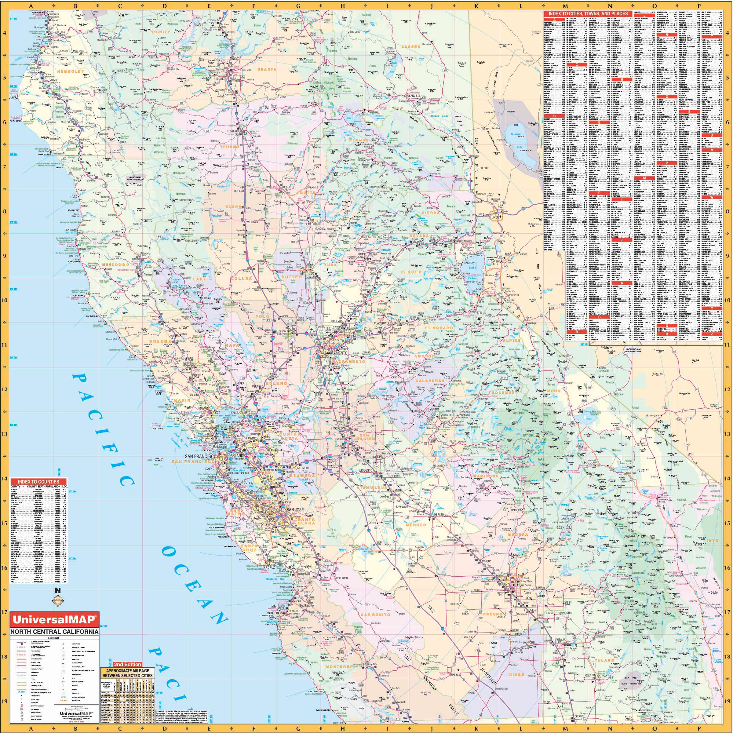 California State North Central Wall Map – KAPPA MAP GROUP