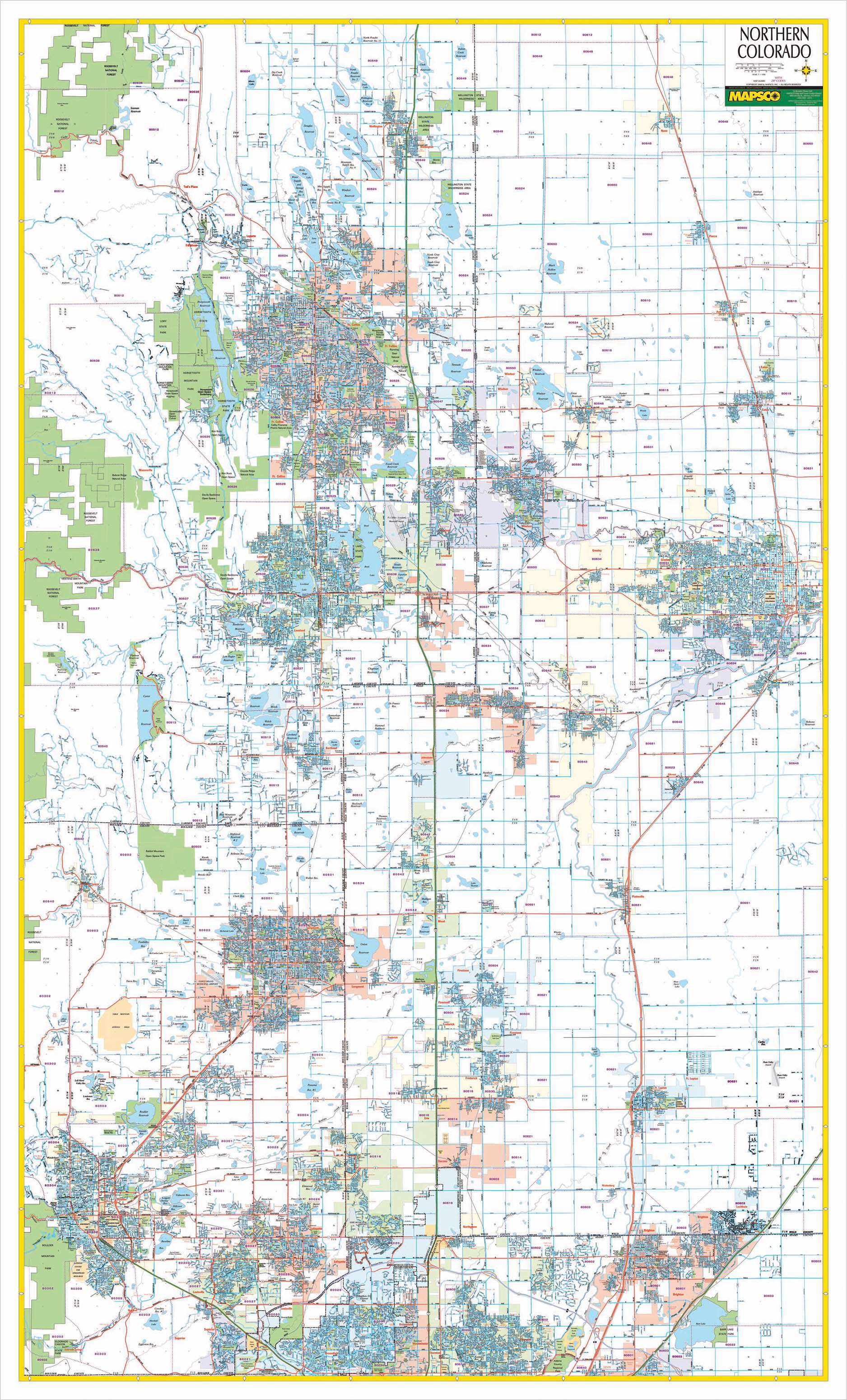 Colorado State Northern Wall Map KAPPA MAP GROUP - Colorado state map