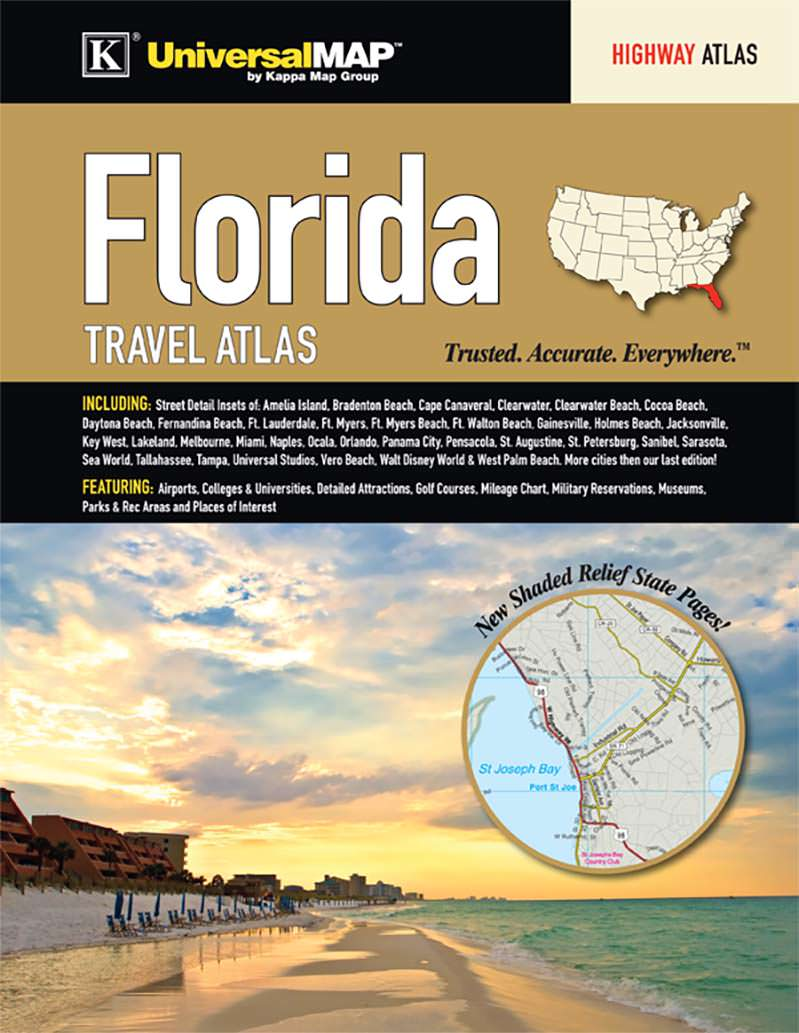 florida state travel atlas kappa map group florida state travel atlas