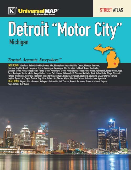 Detroit Motor City Mi Street Atlas Kappa Map Group