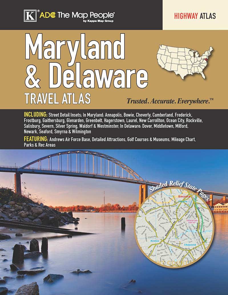 Maryland & Delaware State Travel Atlas – KAPPA MAP GROUP