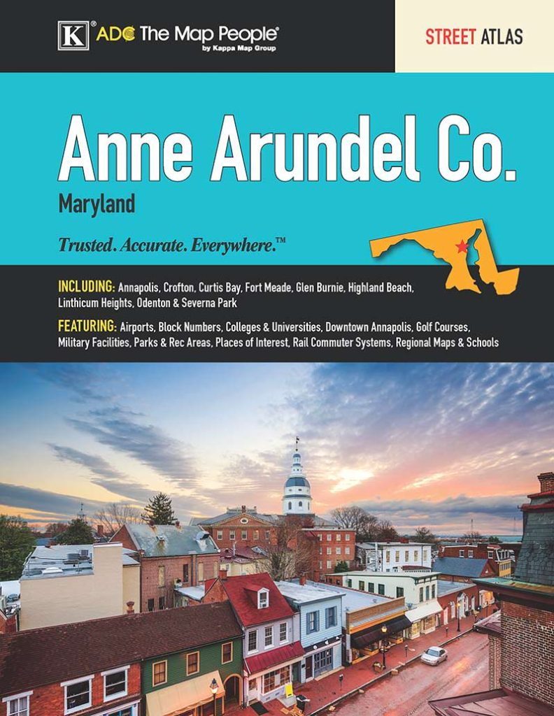 Anne Arundel County Maryland Street Atlas Products