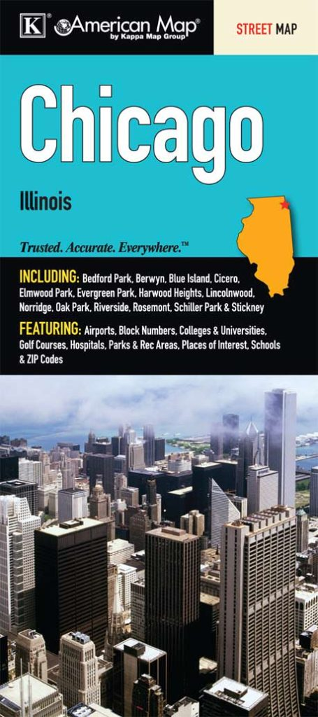 Chicago, IL Fold Map – KAPPA MAP GROUP on