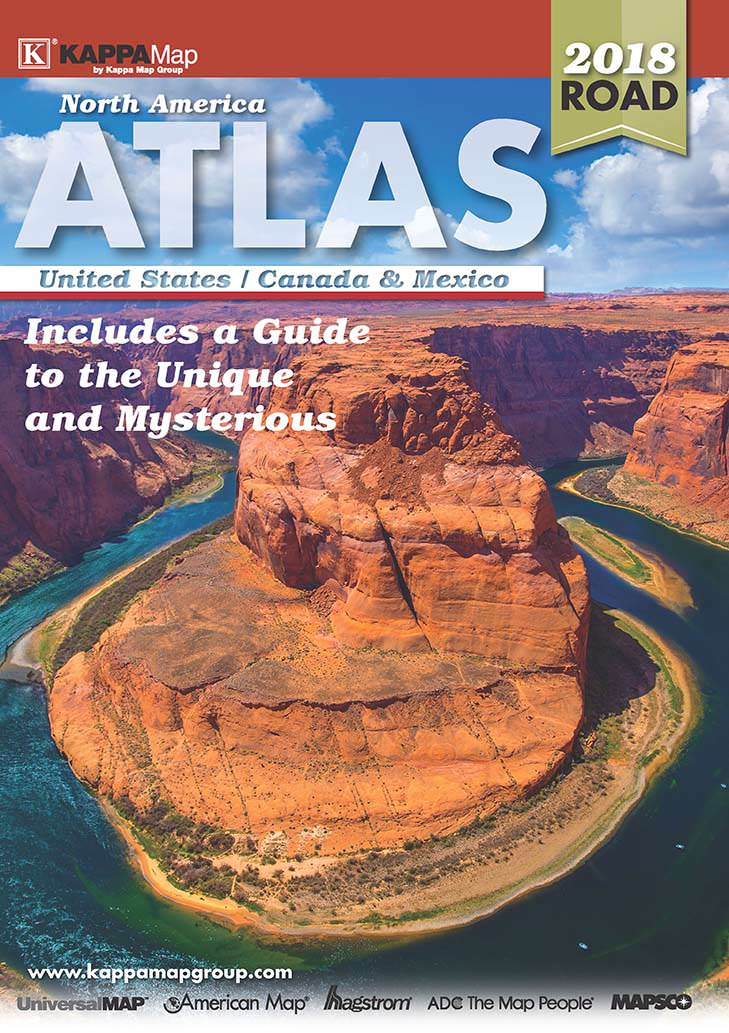 2018 north america deluxe road atlas