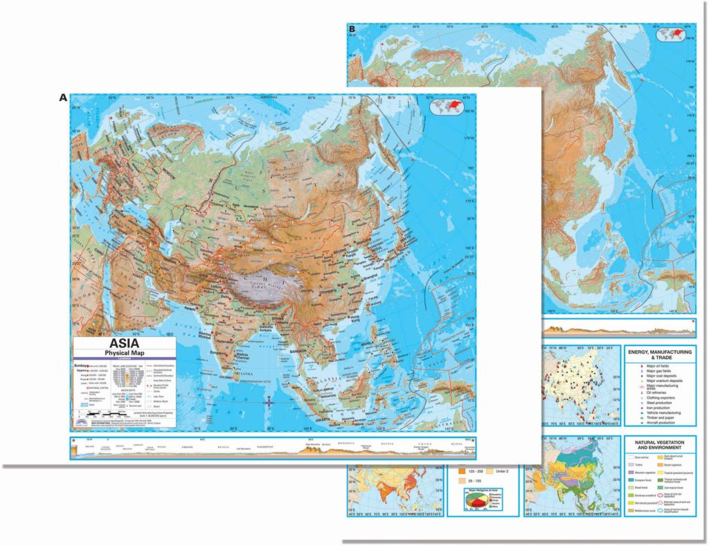 asia advanced physical deskpad map 5 pack