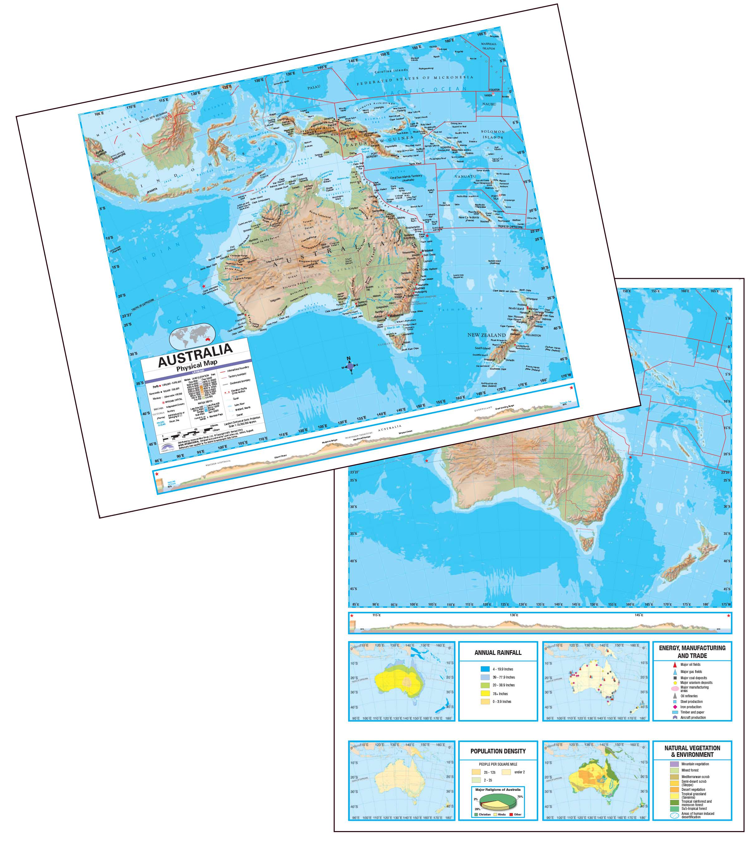 Australia advanced physical deskpad map 5 pack kappa map group australia advanced physical deskpad map 5 pack gumiabroncs Images
