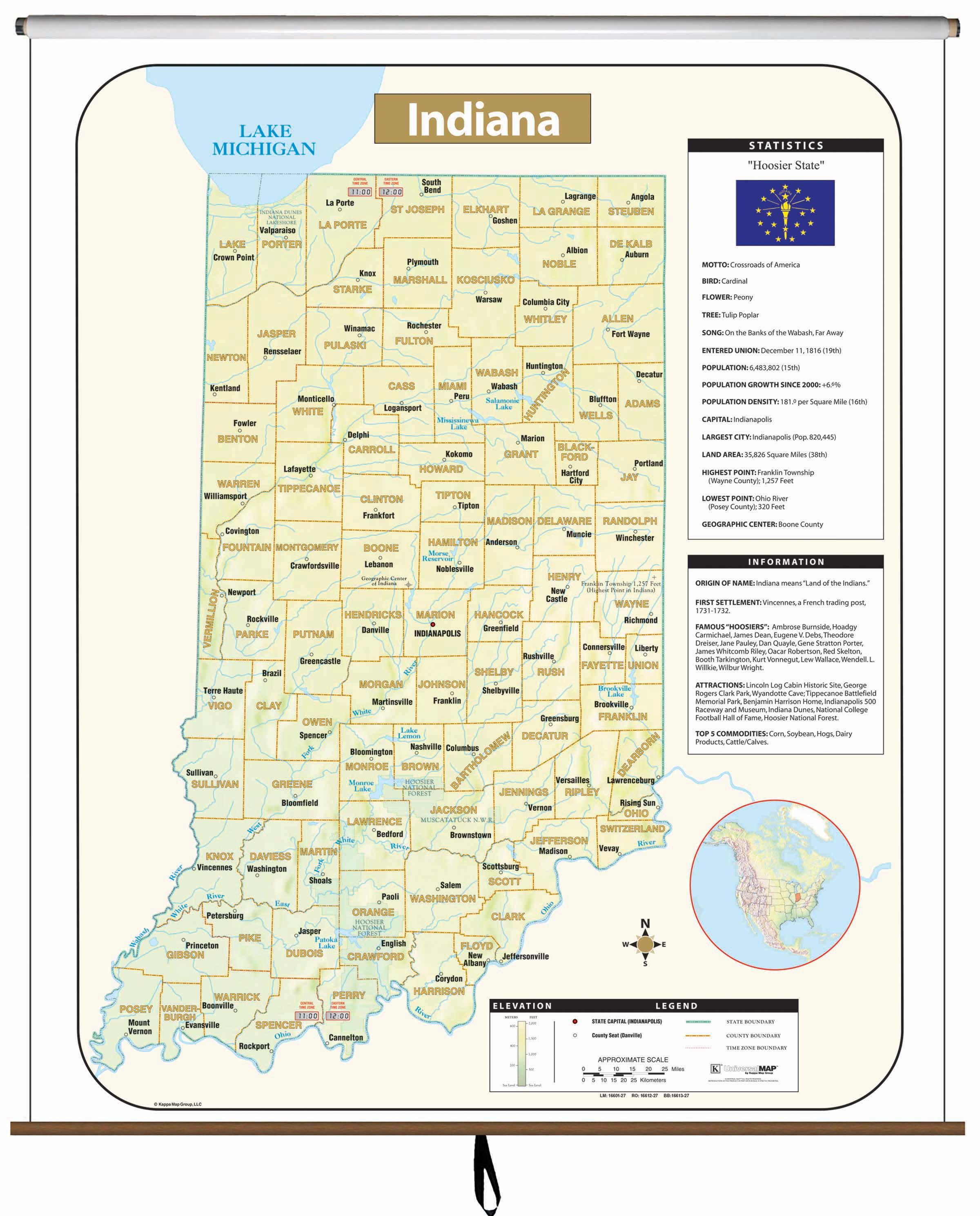 Indiana Large Scale Shaded Relief Wall Map – KAPPA MAP GROUP on florida wall map, indiana state house map, indiana state world map, indiana state on us map, indiana state political map, indiana state travel map, indiana state road map, california wall map, new orleans wall map, indiana state township map, indiana state usa map, north carolina wall map,