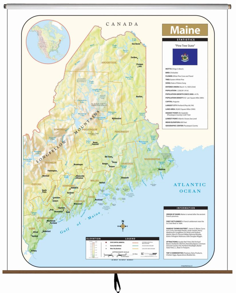 Maine State Wall Map – KAPPA MAP GROUP on blank map of maine, york maine area map, driving map of maine, portland map of maine, brunswick map of maine, york county maine map 1872, york me map, york county city map, full map of maine, camden map of maine, map of counties of maine, us state map of maine,
