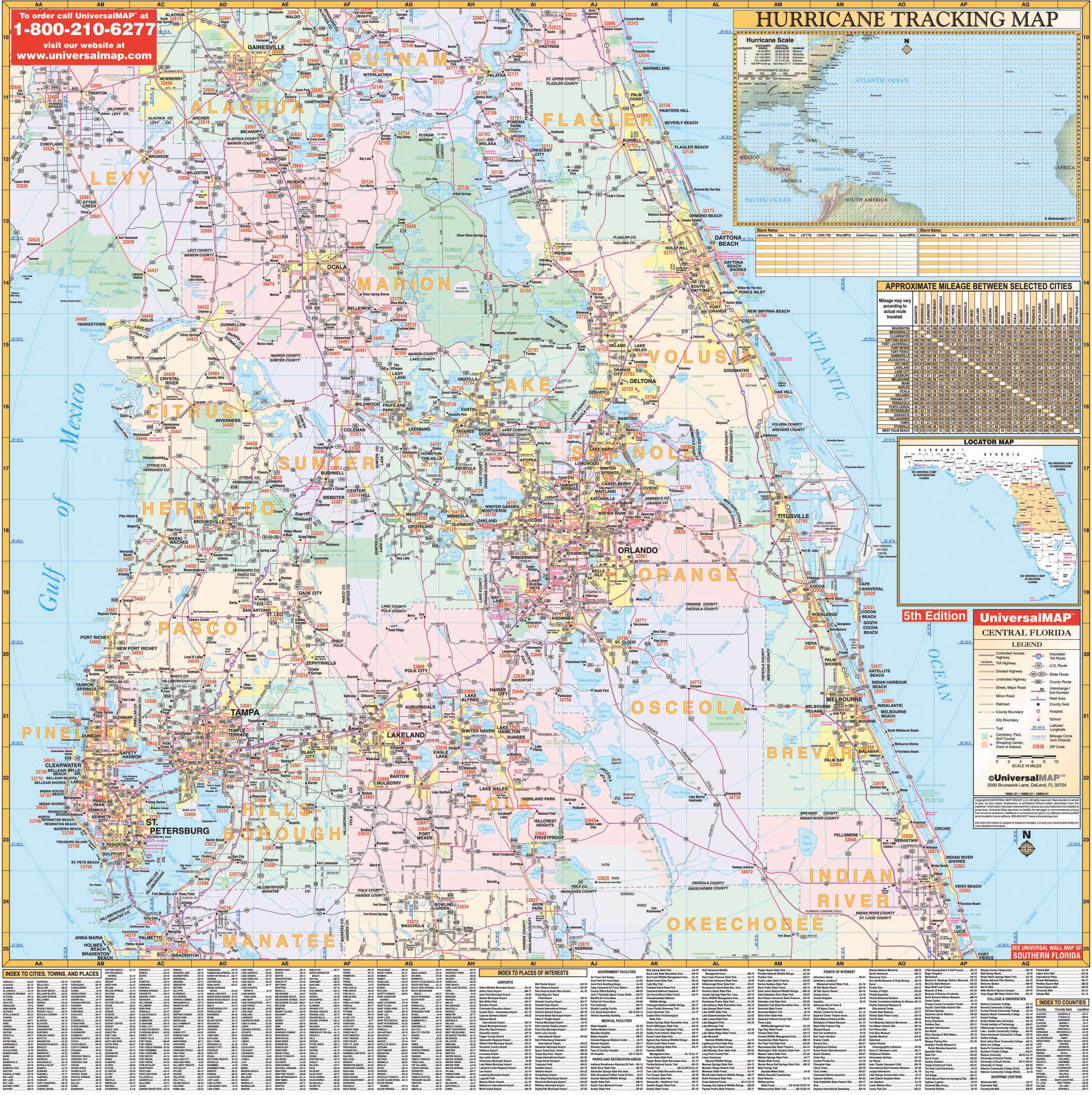 Florida State Central Wall Map – KAPPA MAP GROUP