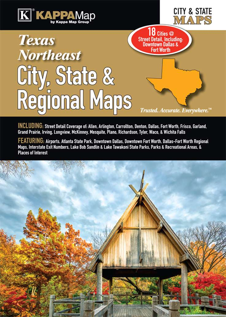 Texas Northeast City, State, & Regional Maps – KAPPA MAP GROUP