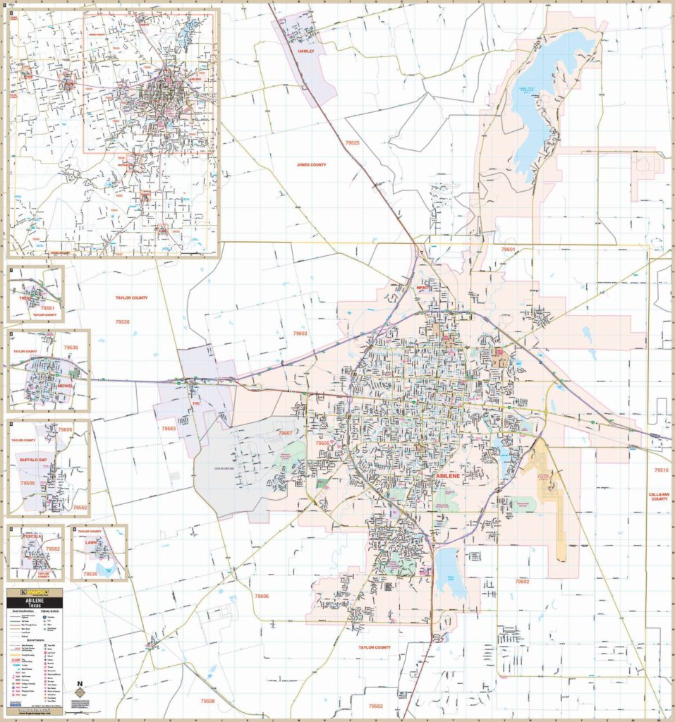 Zip Code Map Abilene Tx.Products Kappa Map Group