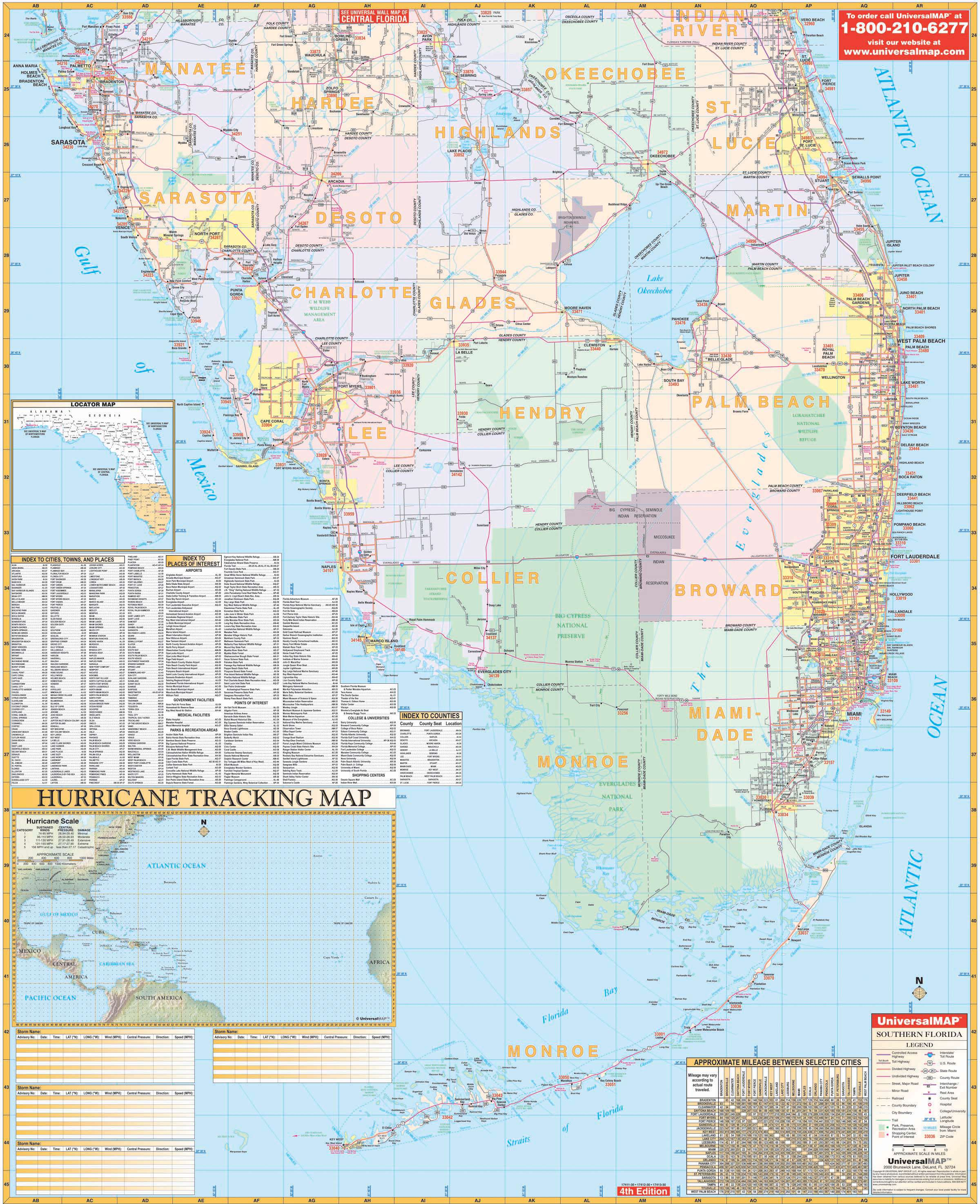 Map Of Florida State.Florida State Southern Region Wall Map Kappa Map Group