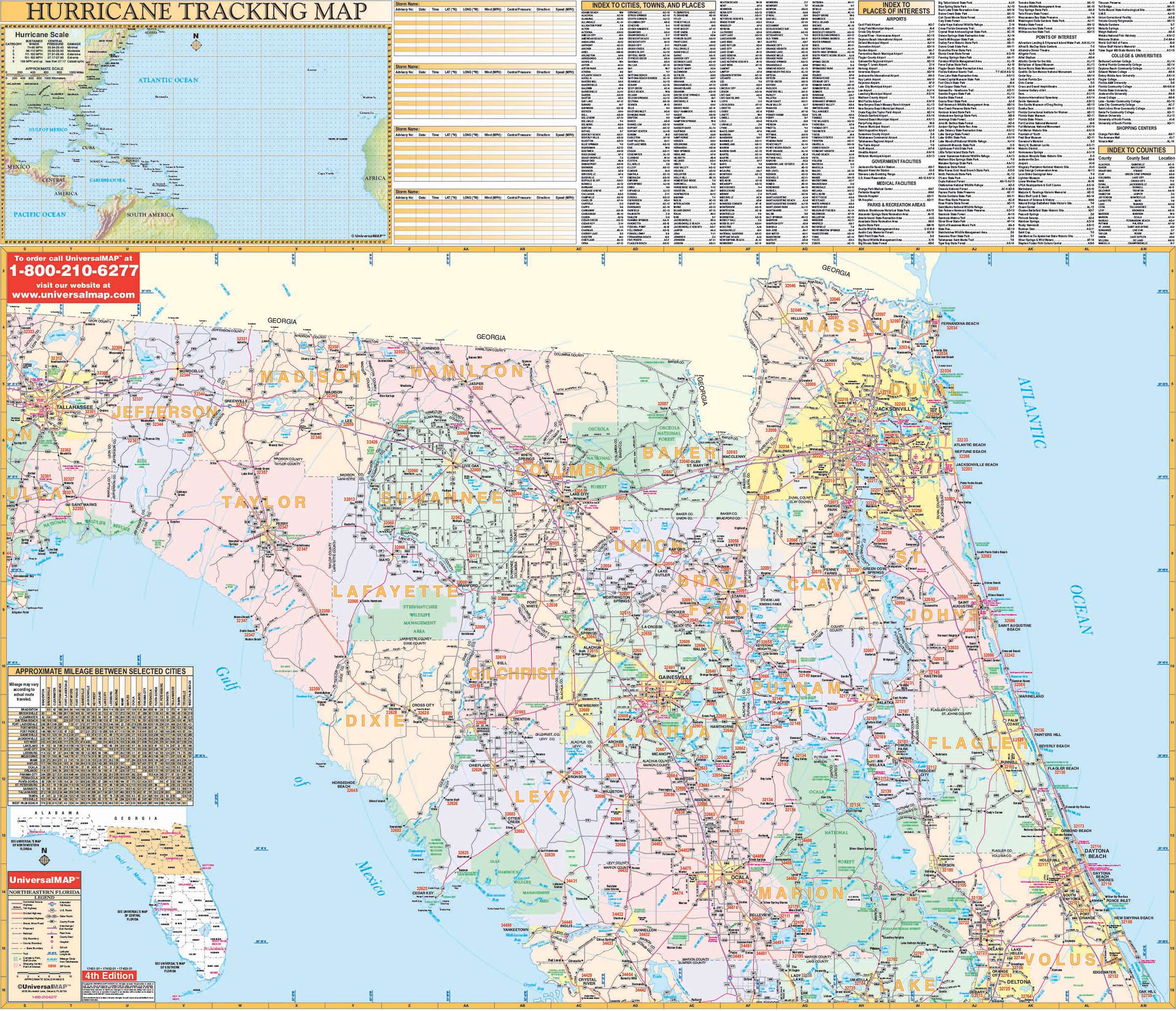 Flordia State Map.Florida State Northeast Regional Wall Map Kappa Map Group