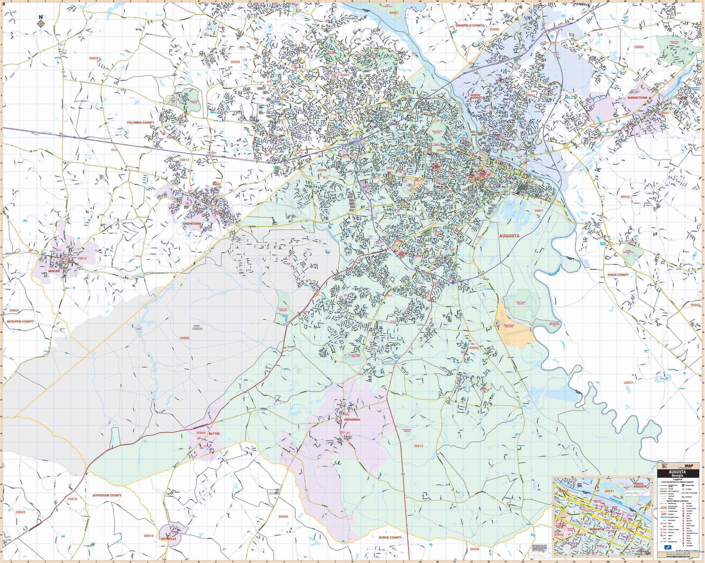 Augusta, GA Wall Map – KAPPA MAP GROUP on venus map, pekin map, normal map, inuyasha map, marshall county map, sprite map, globe map, muskegon county boundary map, inche in continental us map, guess map, river valley map, dwarf map, peoria map, adidas map, bugbear map, nike map, el paso map,