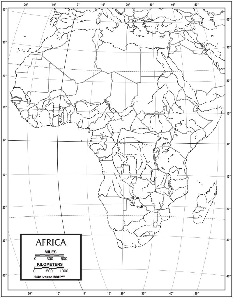 Outline Of Africa Map.Africa Outline Map 50 Pack Paper Kappa Map Group