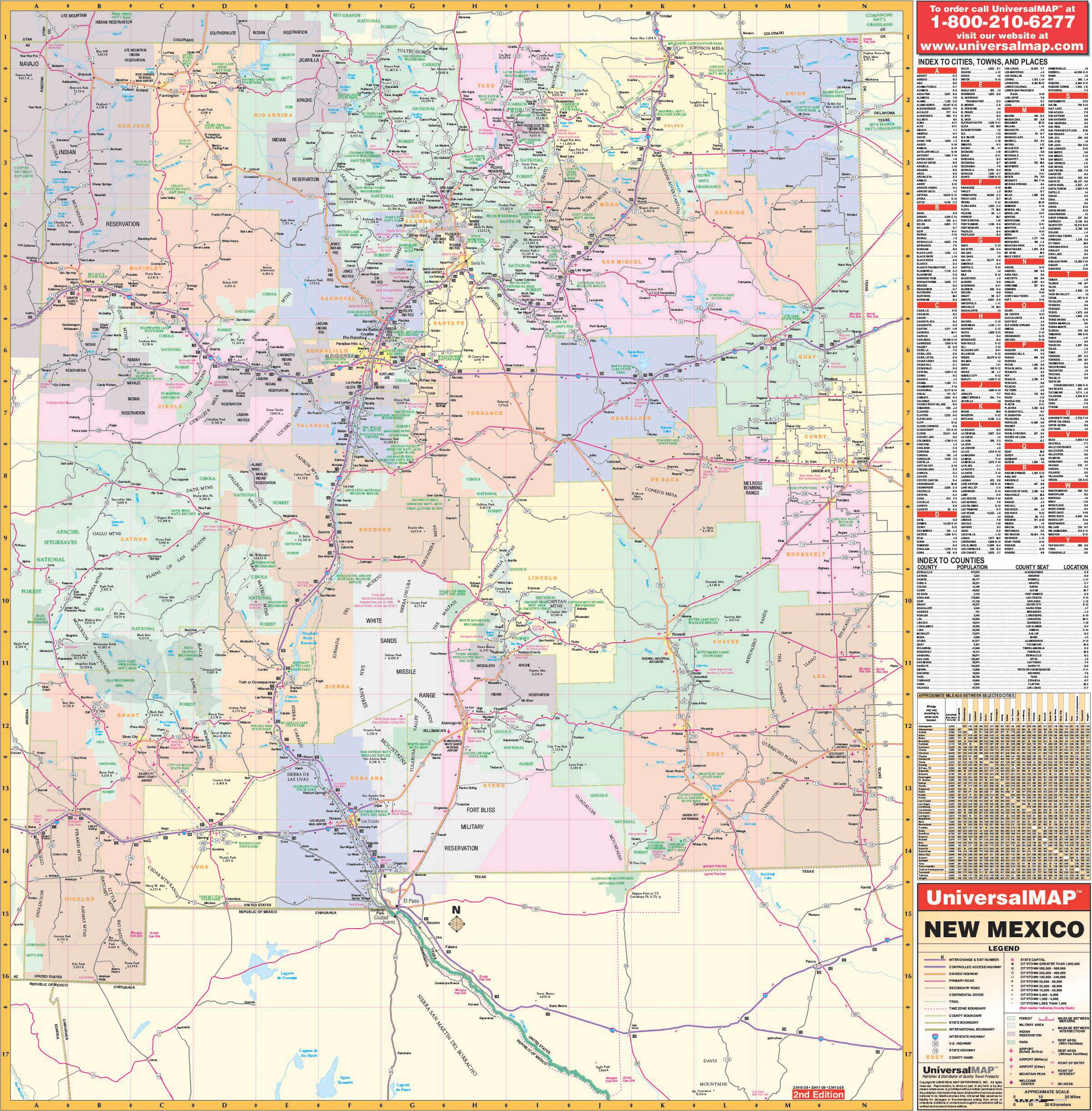 New Mexico State Wall Map – KAPPA MAP GROUP on