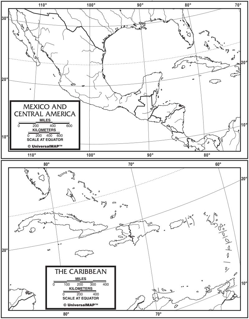 Central America Outline Map 50-Pack (paper) – KAPPA MAP GROUP