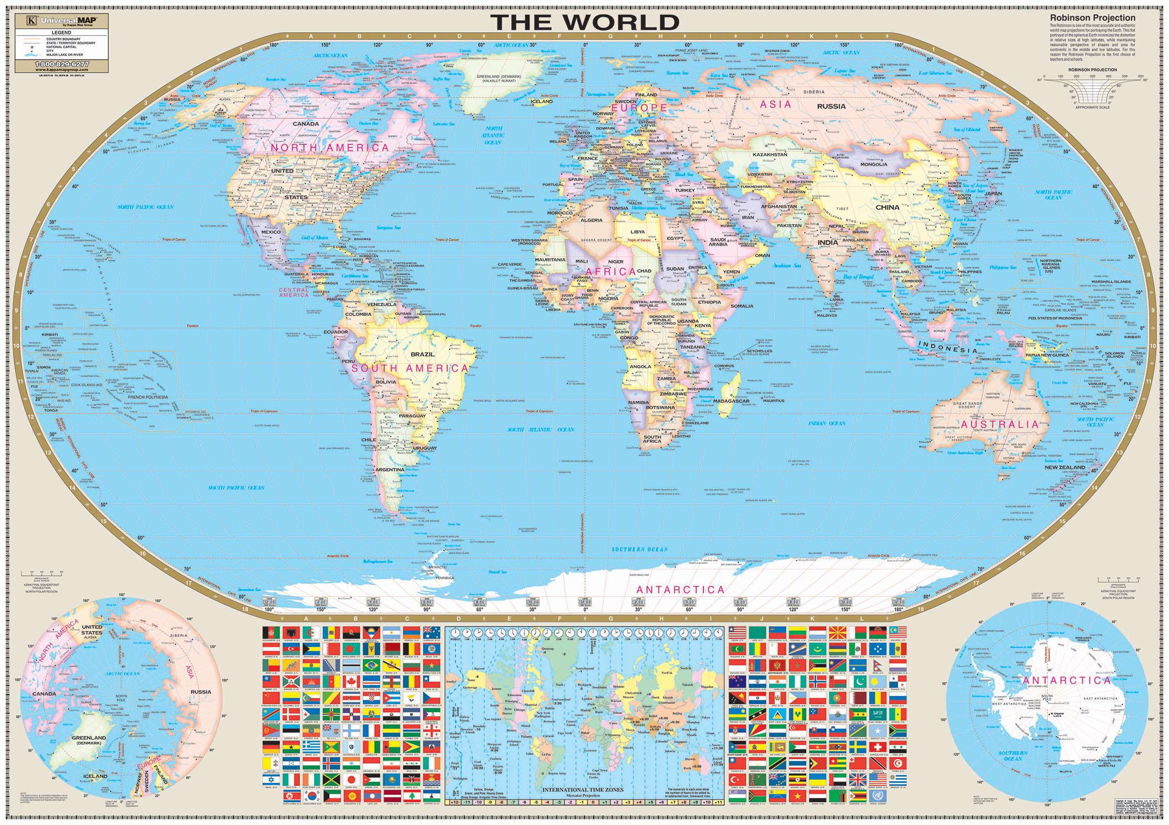 world wall map laminated