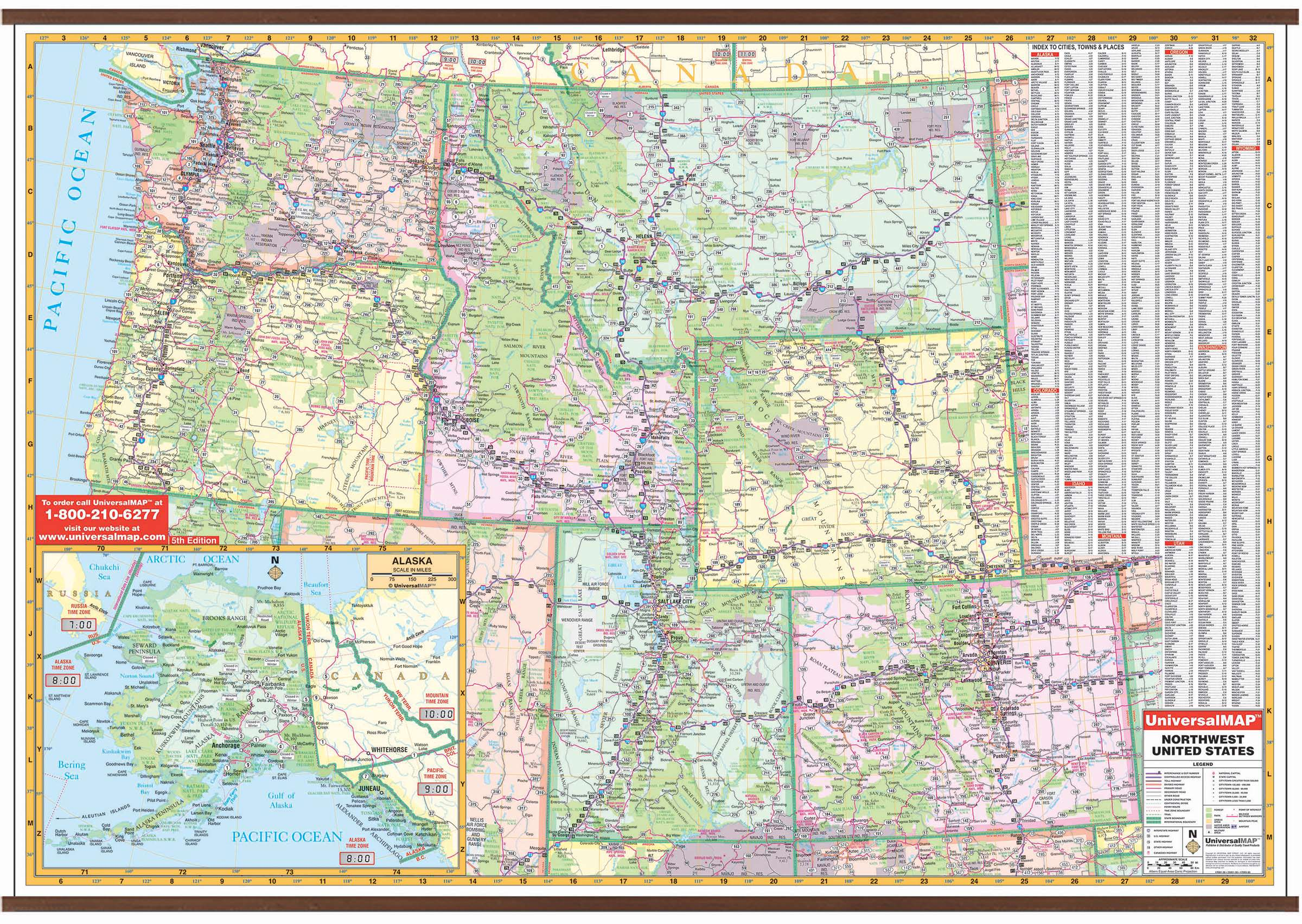 Us North West Wall Map Kappa Map Group - North-west-us-map