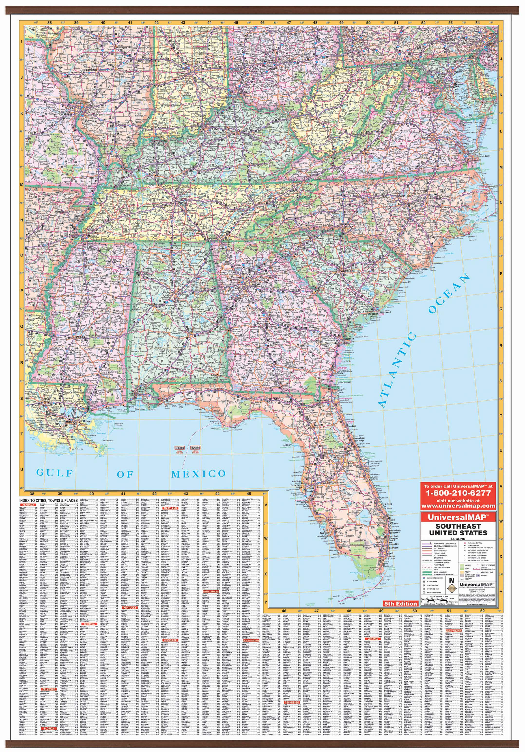 Us Southeastern Virginia Wall Map Kappa Map Group - Southeast-us-map-with-cities