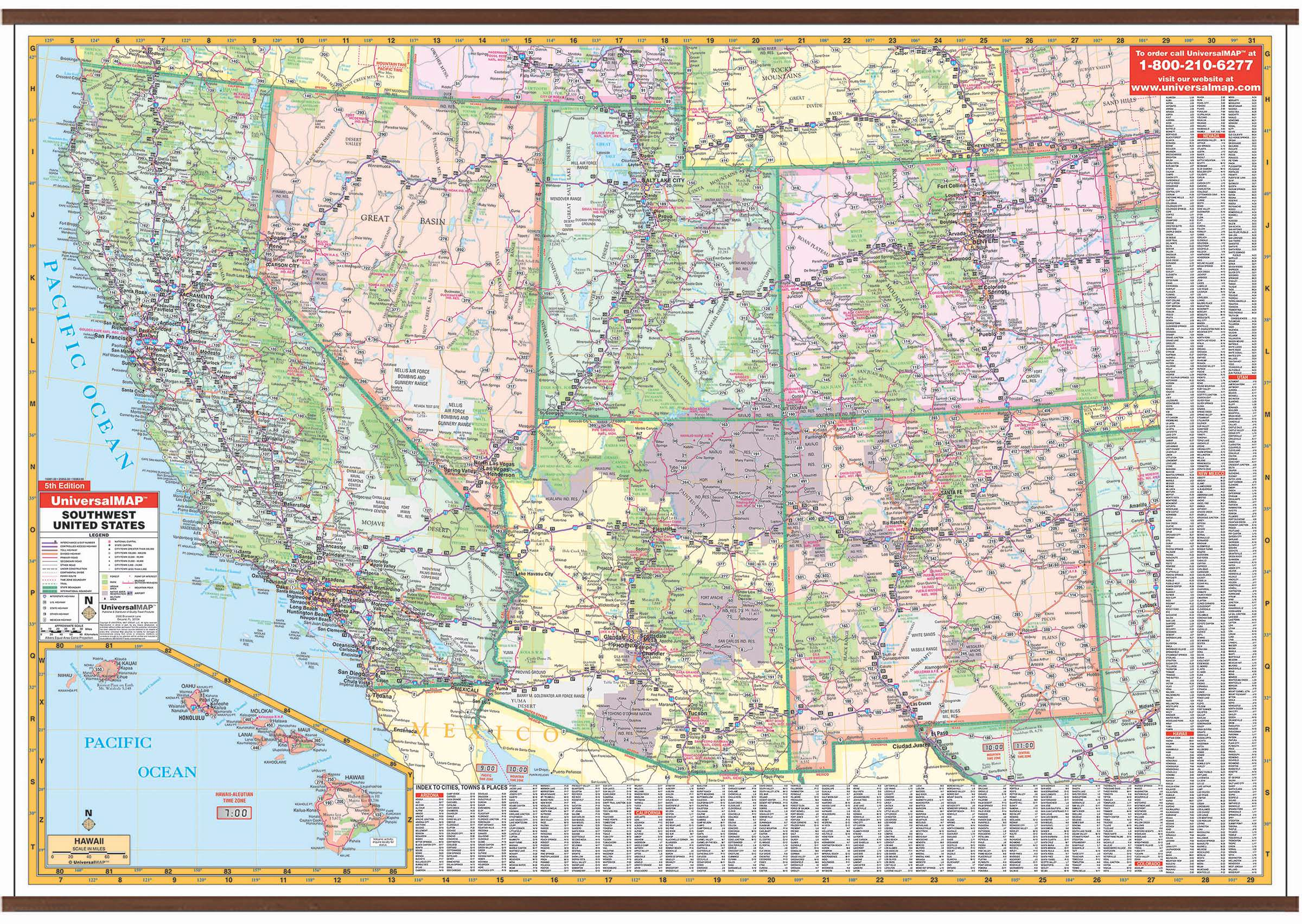 Picture of: Us Southwestern Wall Map Kappa Map Group