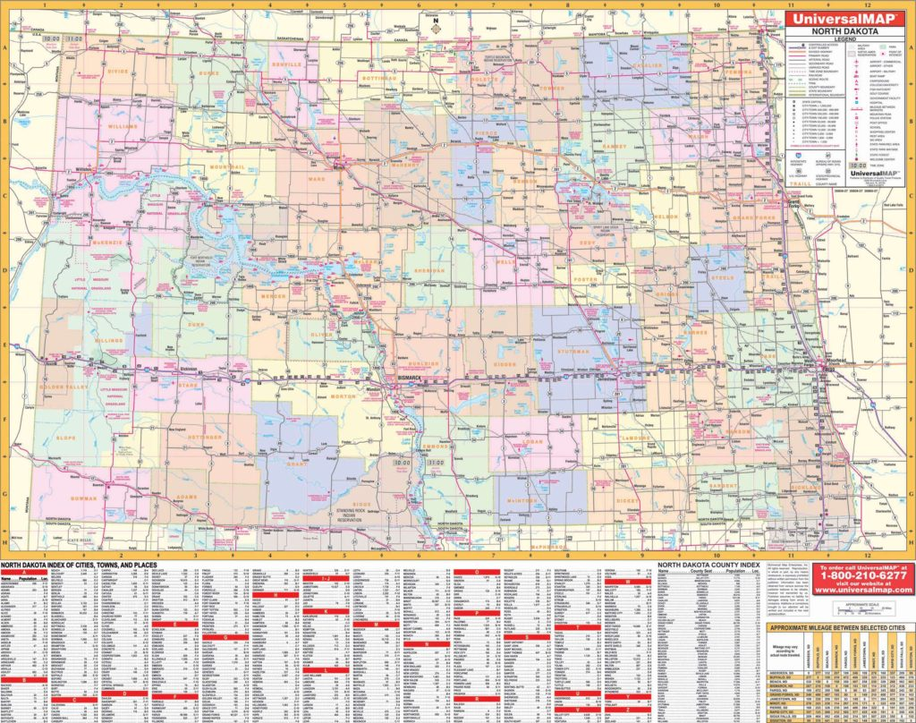 North Dakota State Wall Map – KAPPA MAP GROUP
