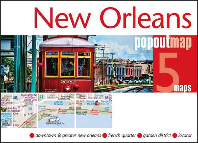 New Orleans Popout Map KAPPA MAP GROUP