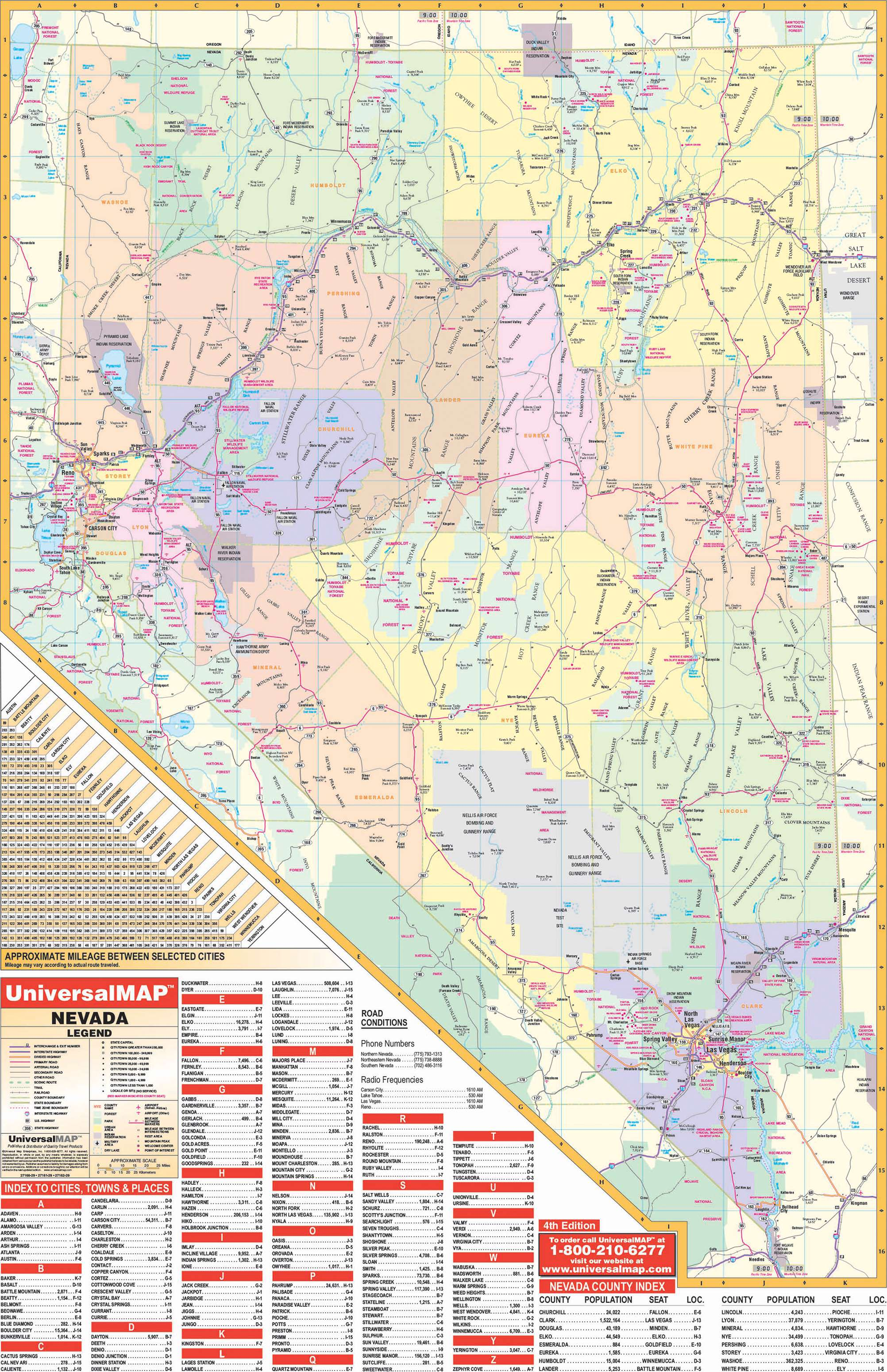 Nevada State Wall Map – KAPPA MAP GROUP