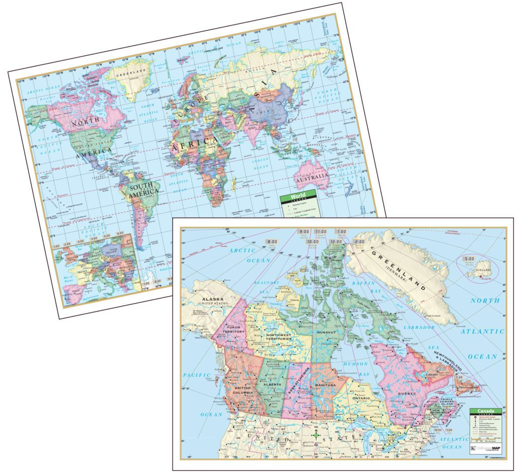 World scholastic atlas kappa map group canadaworld primary deskpad map 30 pack gumiabroncs Images