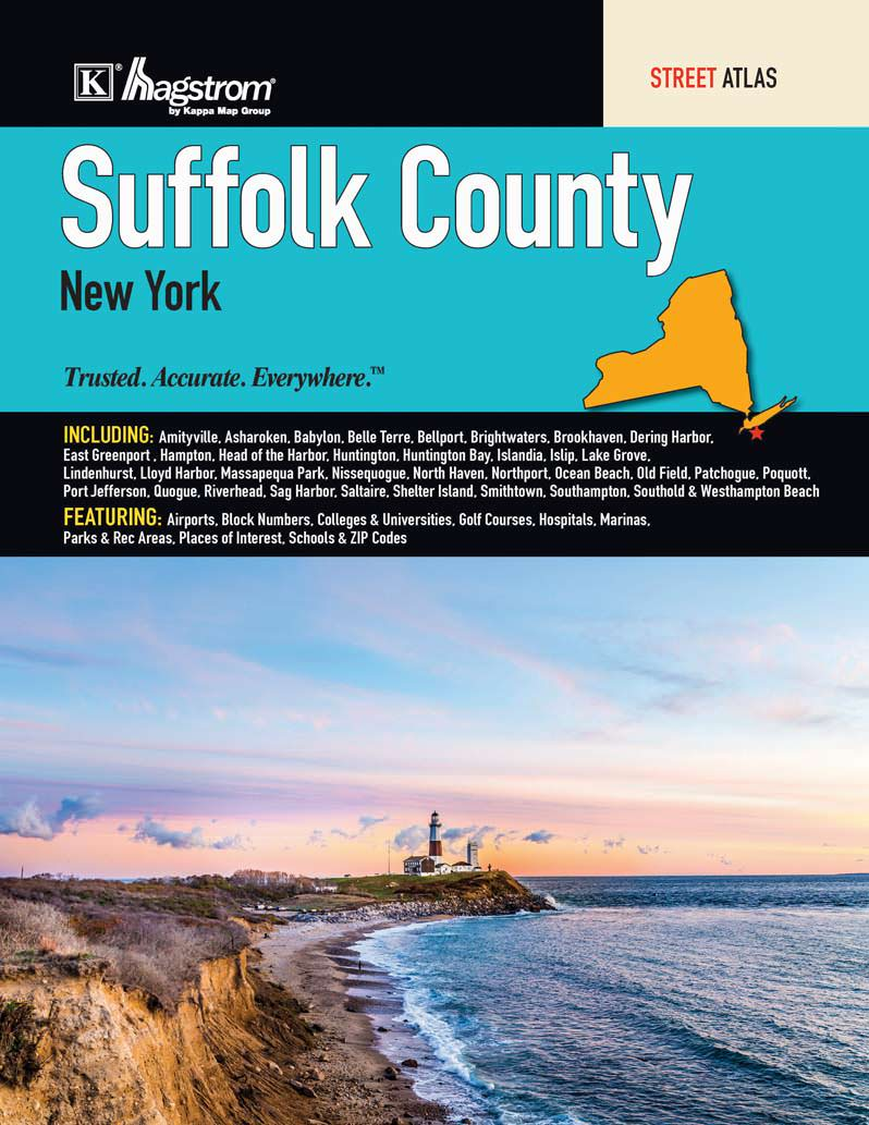 Suffolk County New York Map.Suffolk County Ny Street Atlas Kappa Map Group