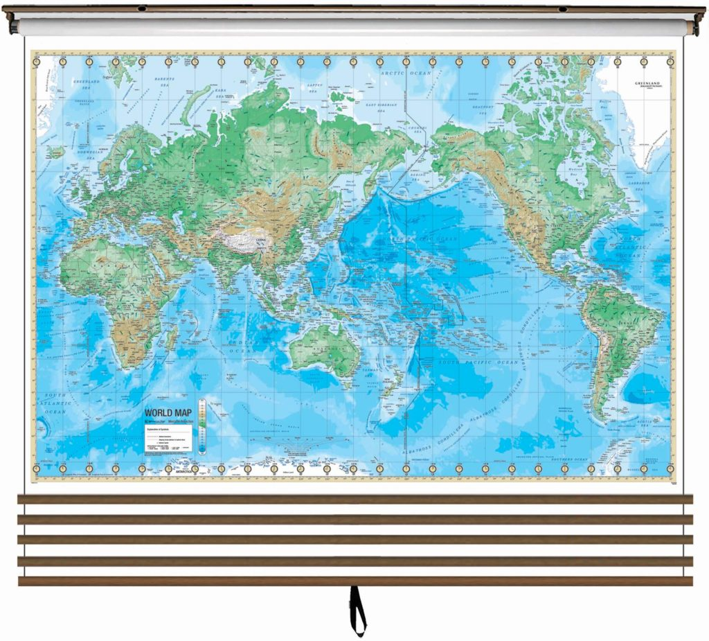 Products kappa map group advanced physical wall map set on roller w backboard 5 map custom gumiabroncs Choice Image