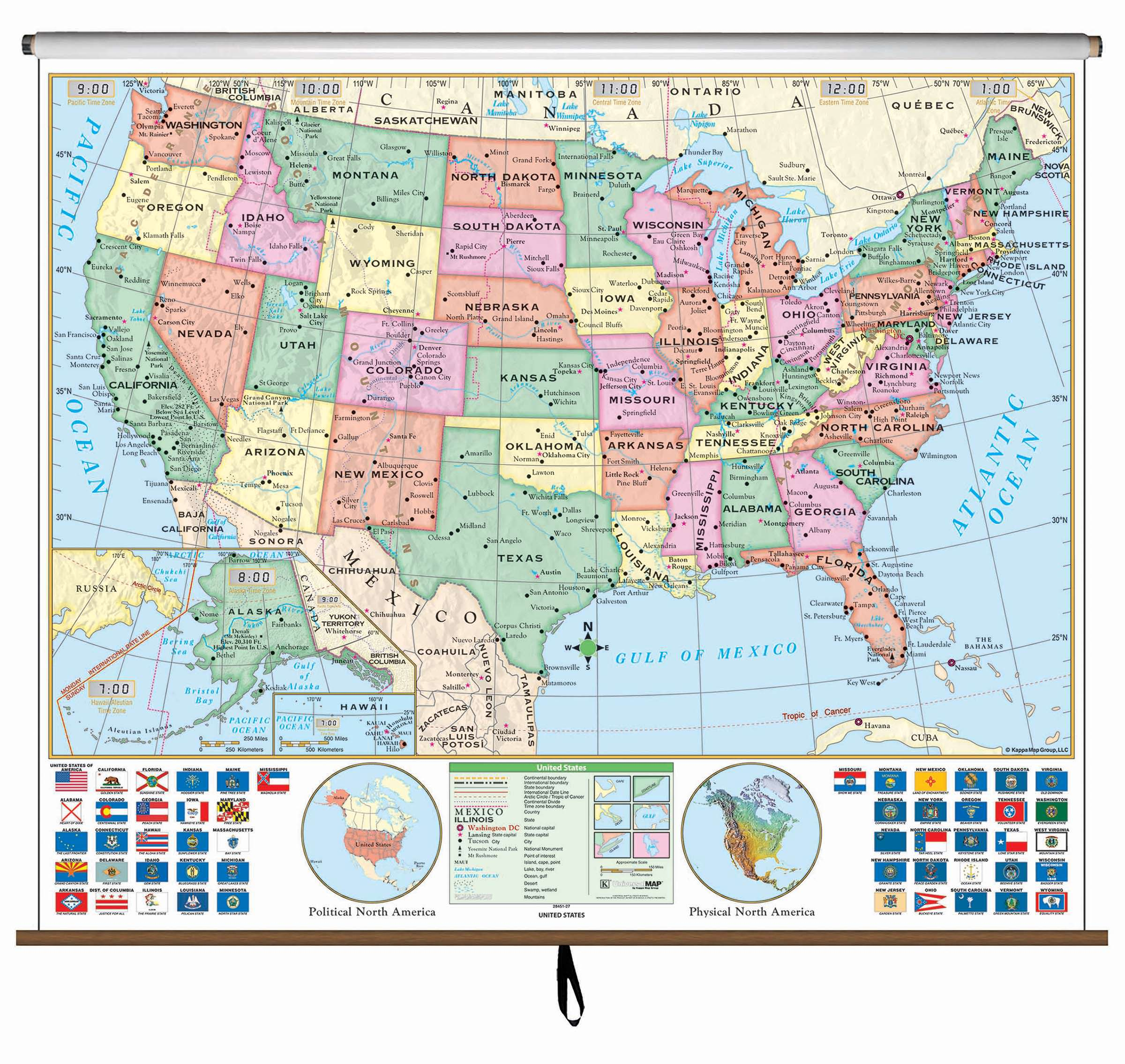 US Essential Clroom Wall Map – KAPPA MAP GROUP on