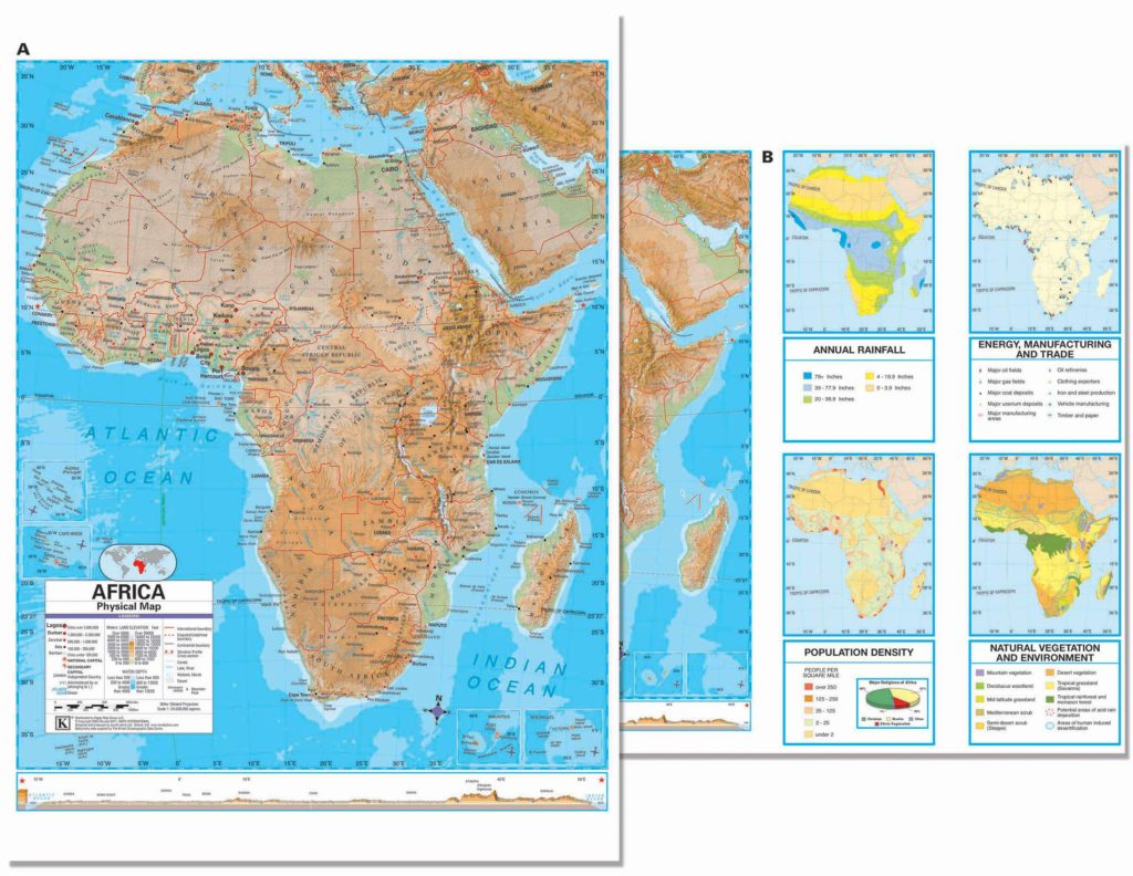 africa advanced physical deskpad map 30 pack