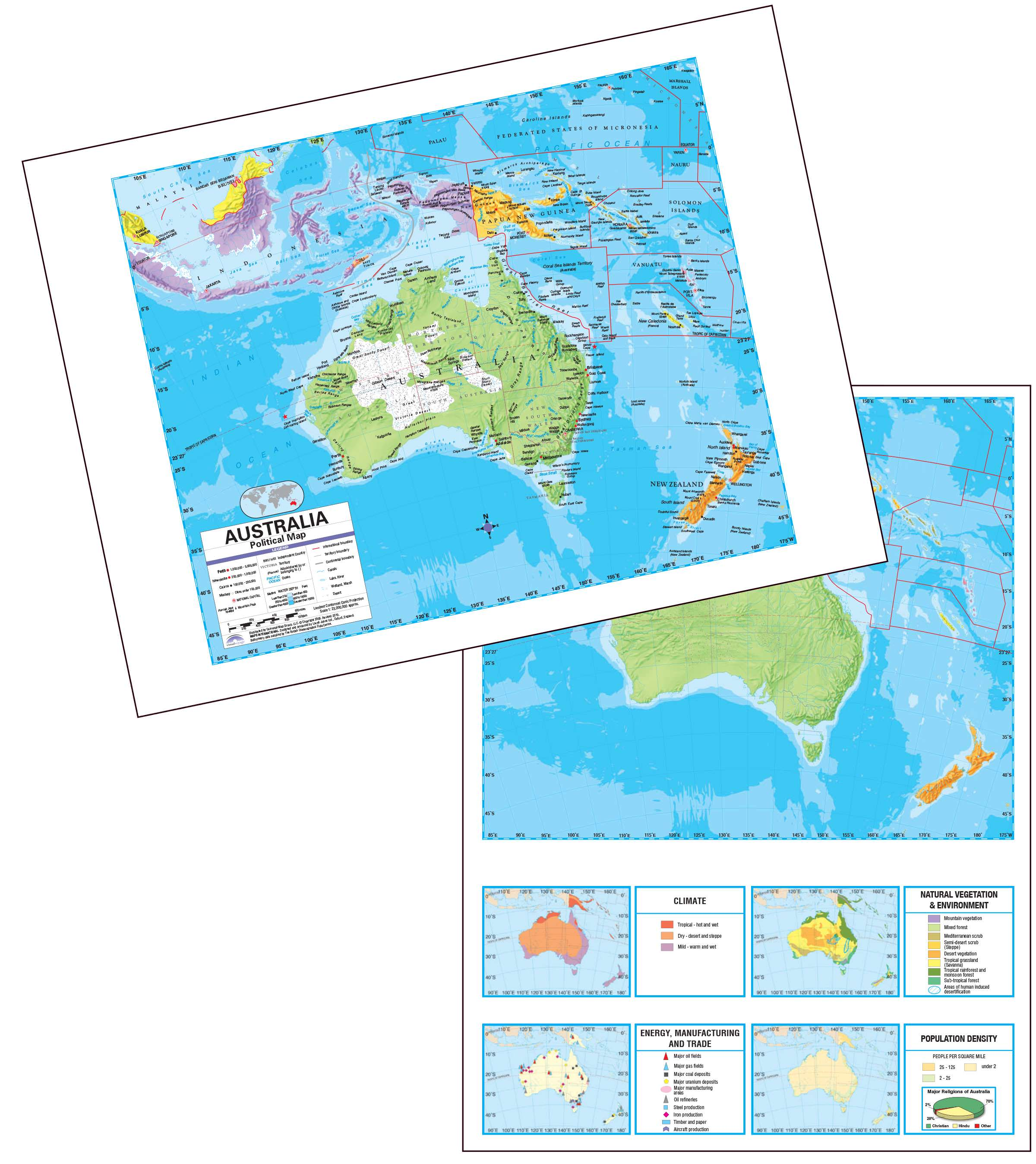 Australia Map Political.Australia Advanced Political Deskpad Map 30 Pack Kappa Map Group