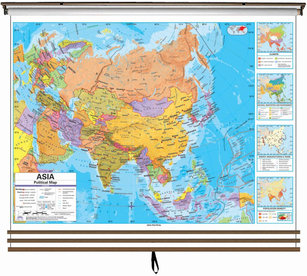 World advanced political classroom wall map on roller kappa map group eastern hemisphere advanced political wall map set on roller w backboard 3 map set gumiabroncs Gallery