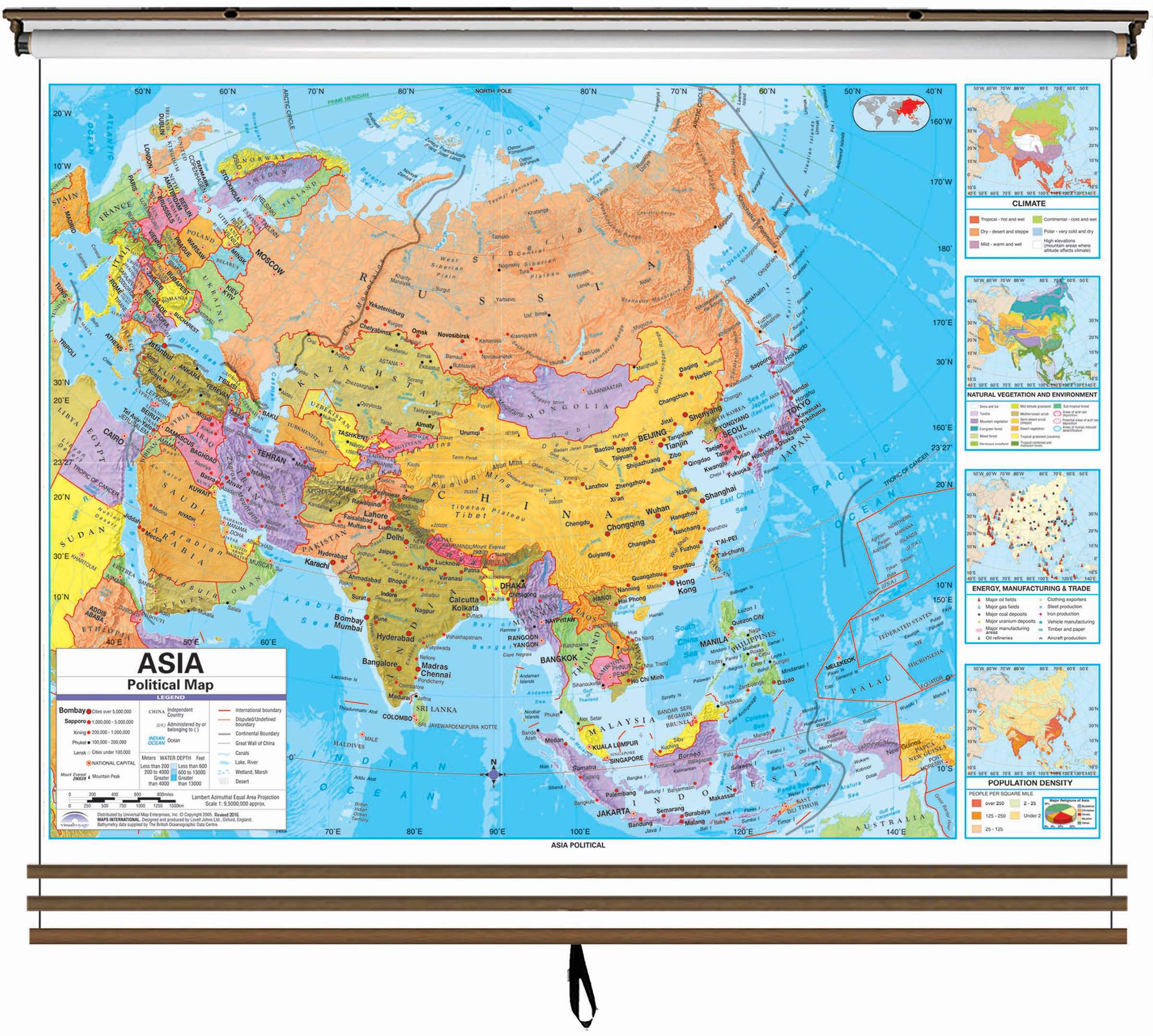 Map Of The Eastern Hemisphere Eastern Hemisphere Advanced Political Wall Map Set on Roller w