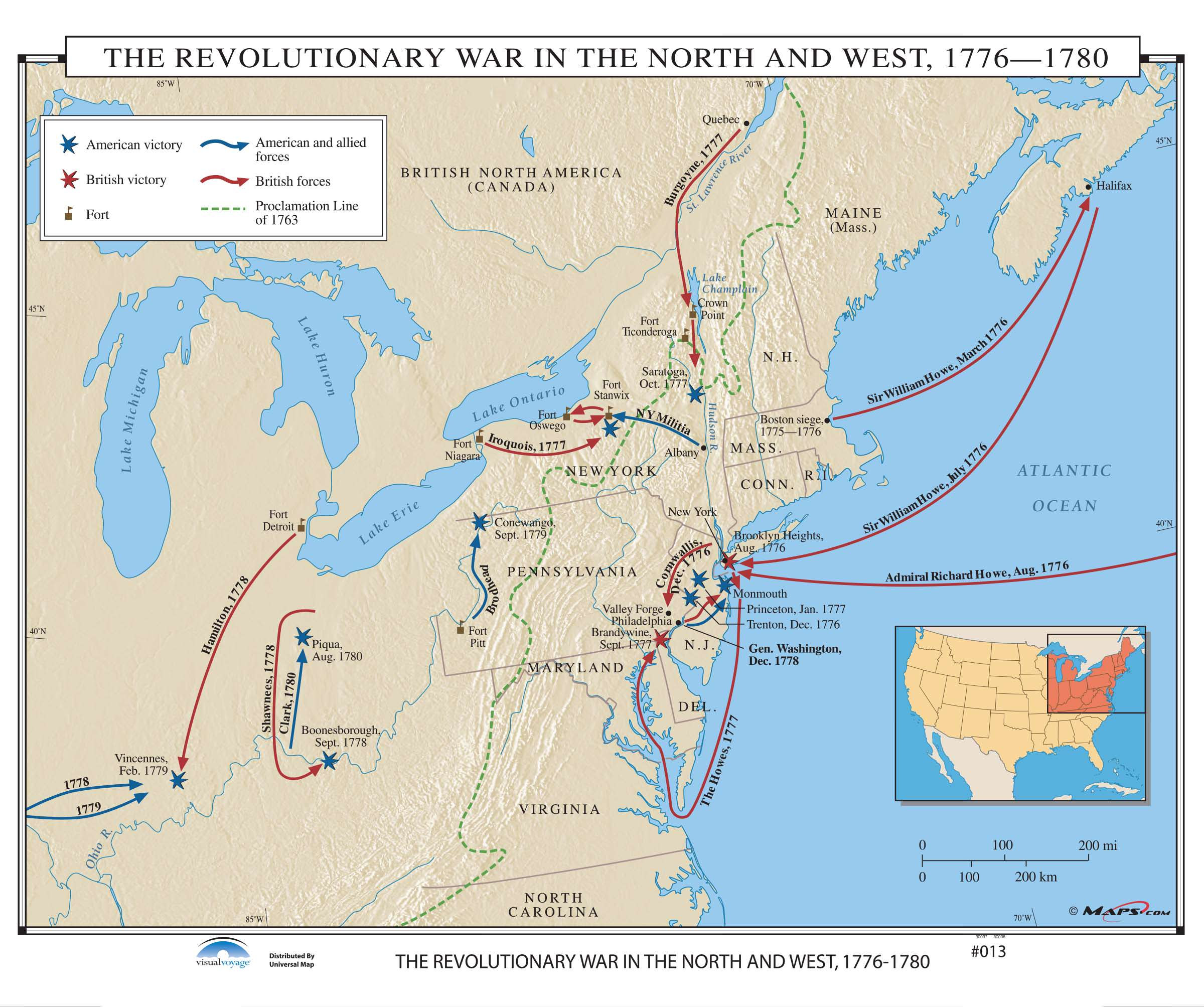 013 The Revolutionary War In The North West 1776 1780 Kappa Map