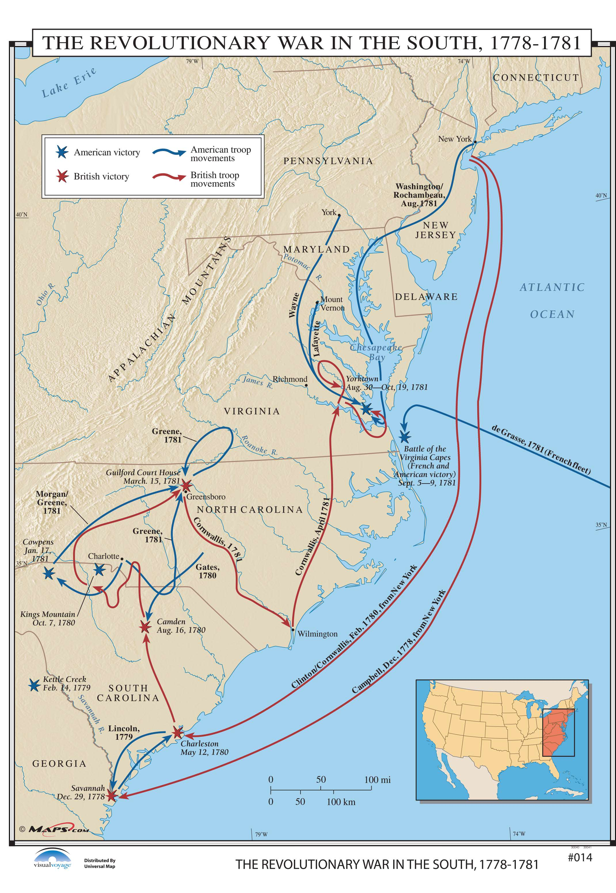 014 The Revolutionary War in the South, 1778-1781 – KAPPA MAP GROUP