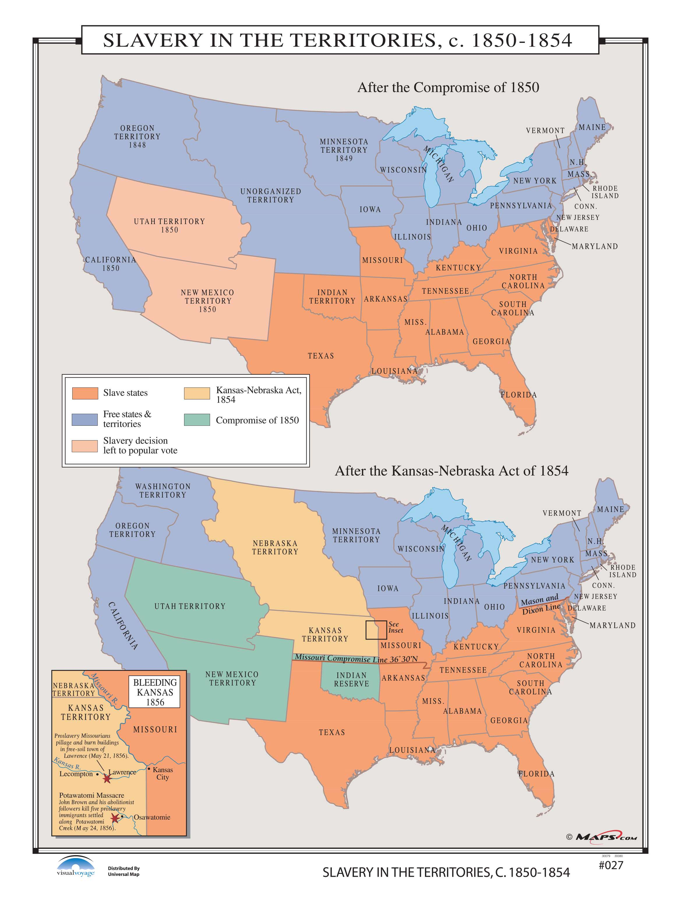027 Slavery in the Territories, 1850-1854 – KAPPA MAP GROUP