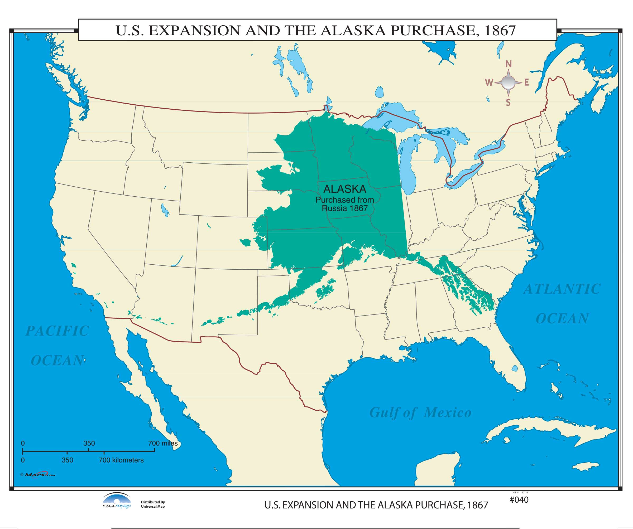 040 US Expansion the Alaska Purchase 1867 KAPPA MAP GROUP