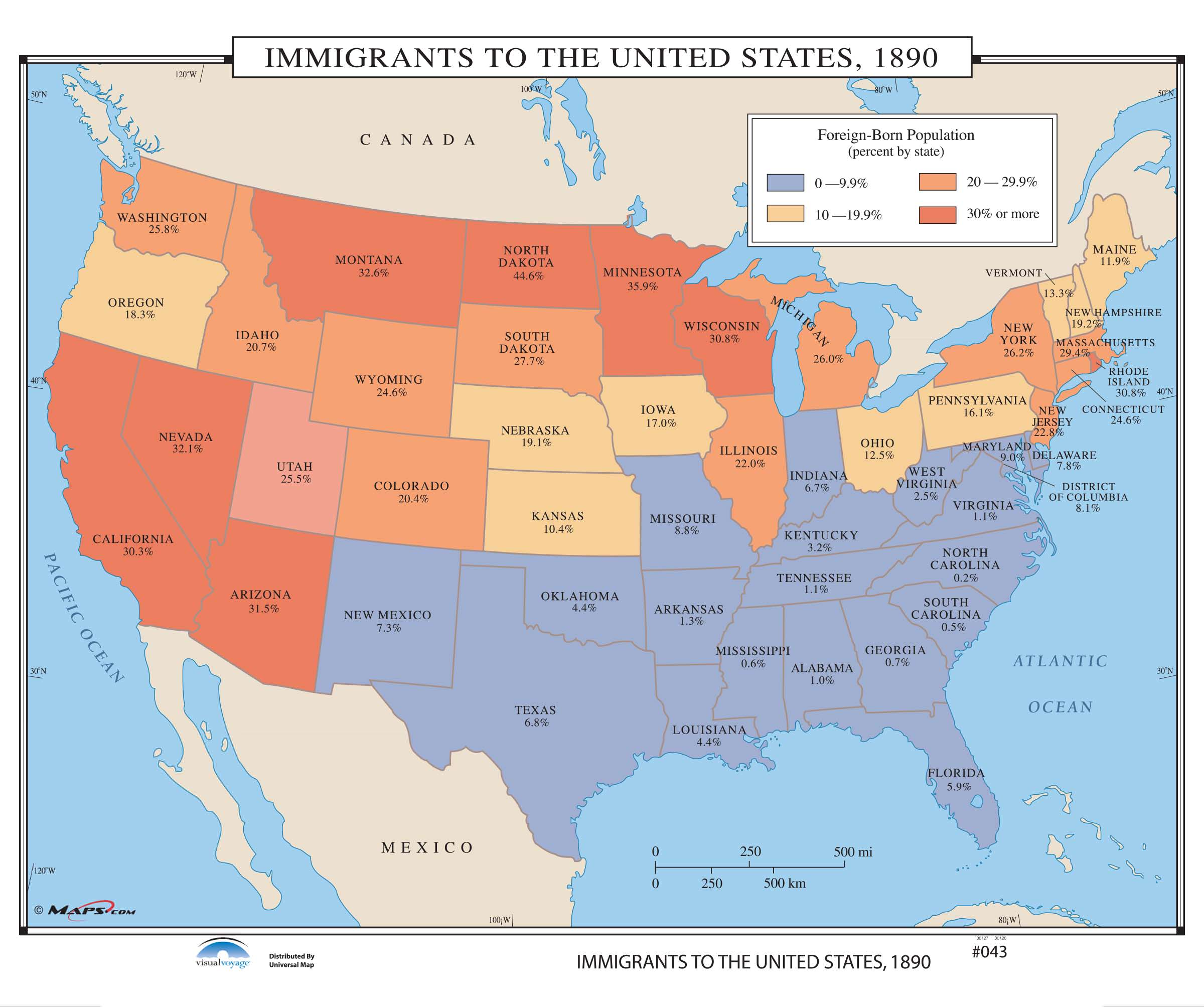 043 Immigrants to the US, 1890 – KAPPA MAP GROUP