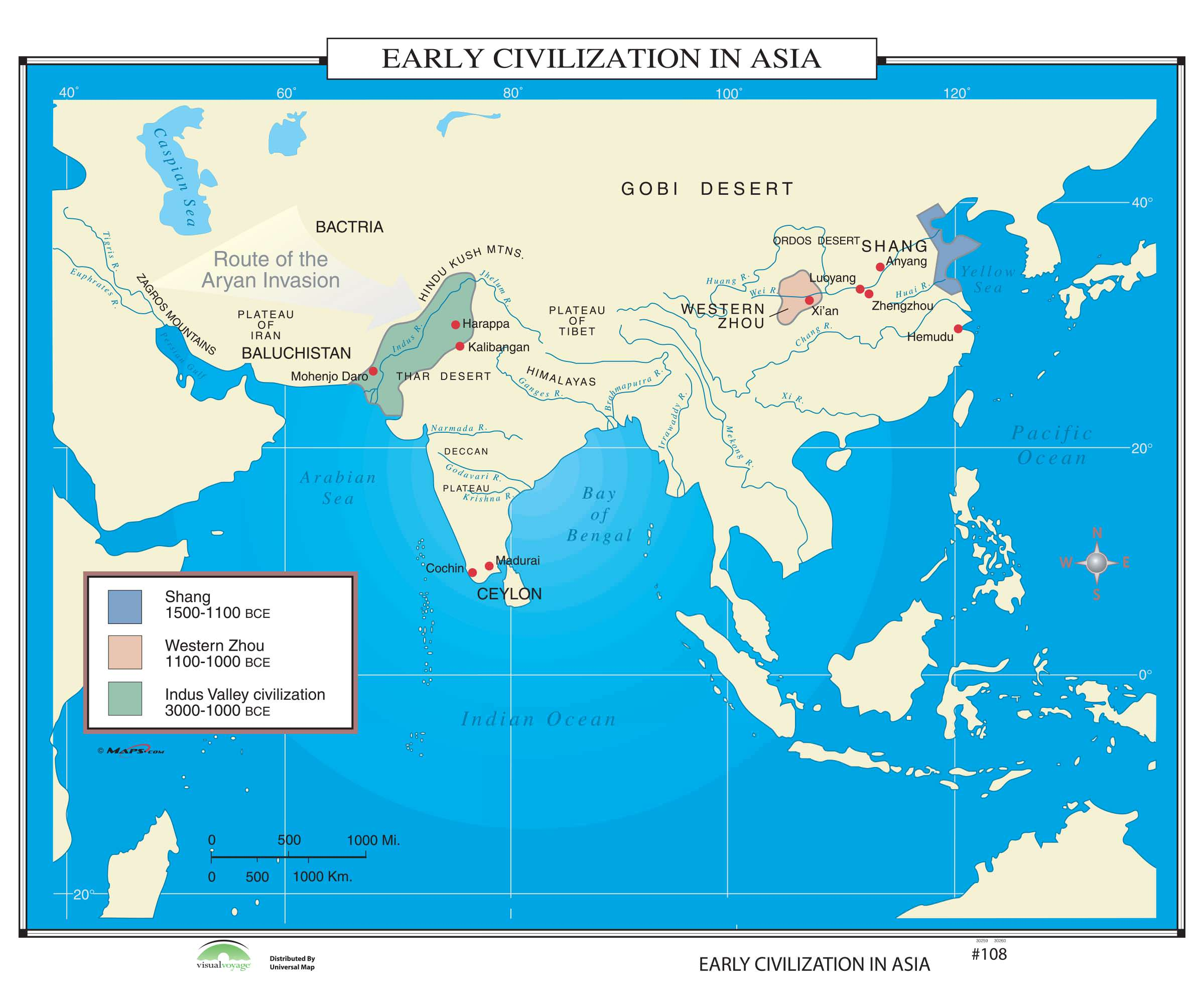 Early Civilizations Map 108 Early Civilization in Asia – KAPPA MAP GROUP Early Civilizations Map