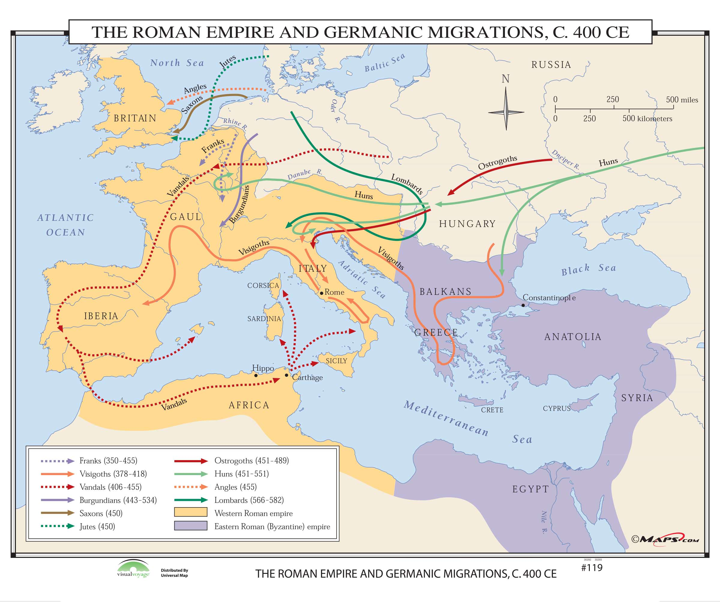 119 The Roman Empire Germanic Migrations 400 Ce Kappa Map Group