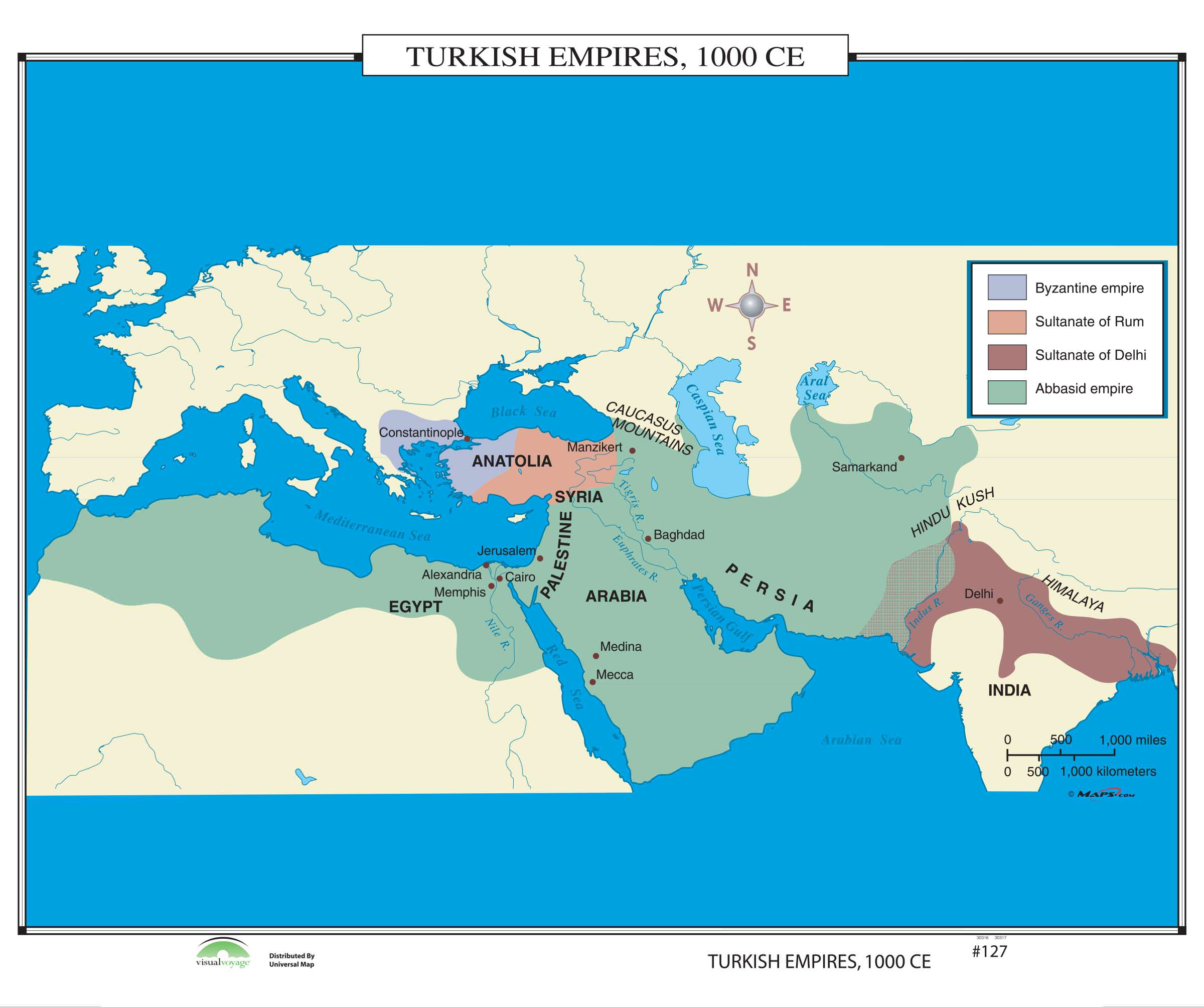 127 turkish empires 1000 ce