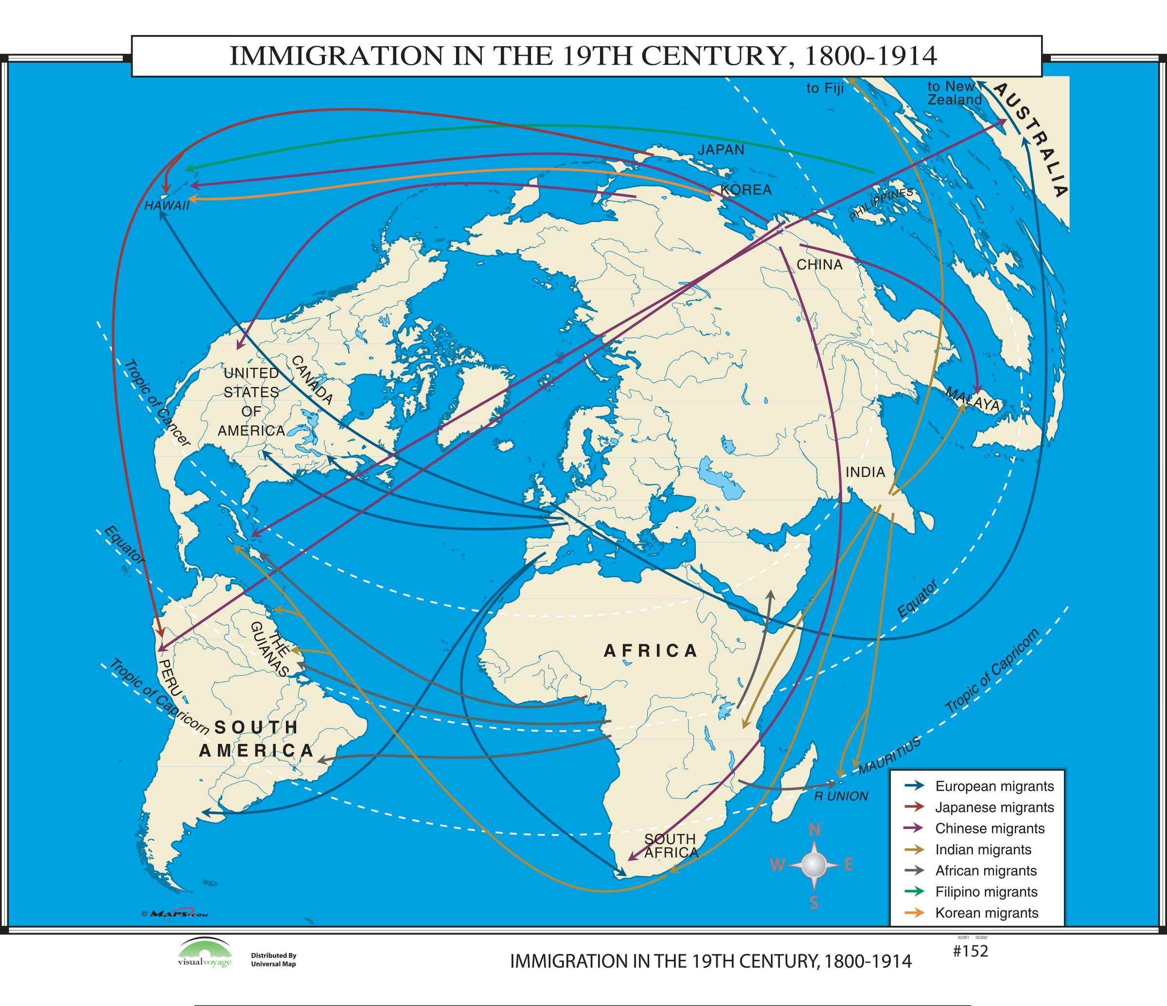 152 Immigration In The 19th Century 1800 1914 Kappa Map Group