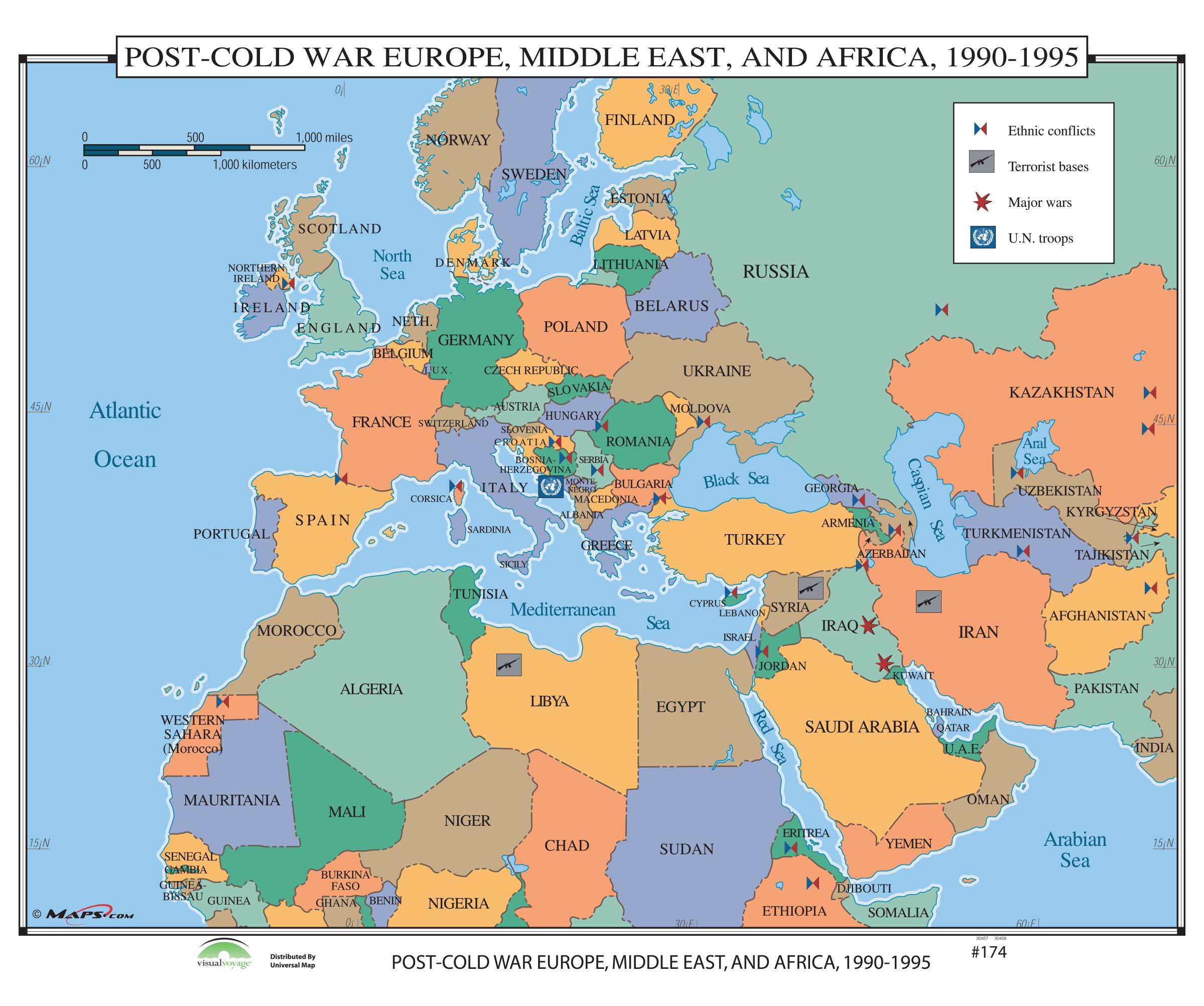 174 Post Cold War Europe, Middle East & Africa, 1990 1995 – KAPPA