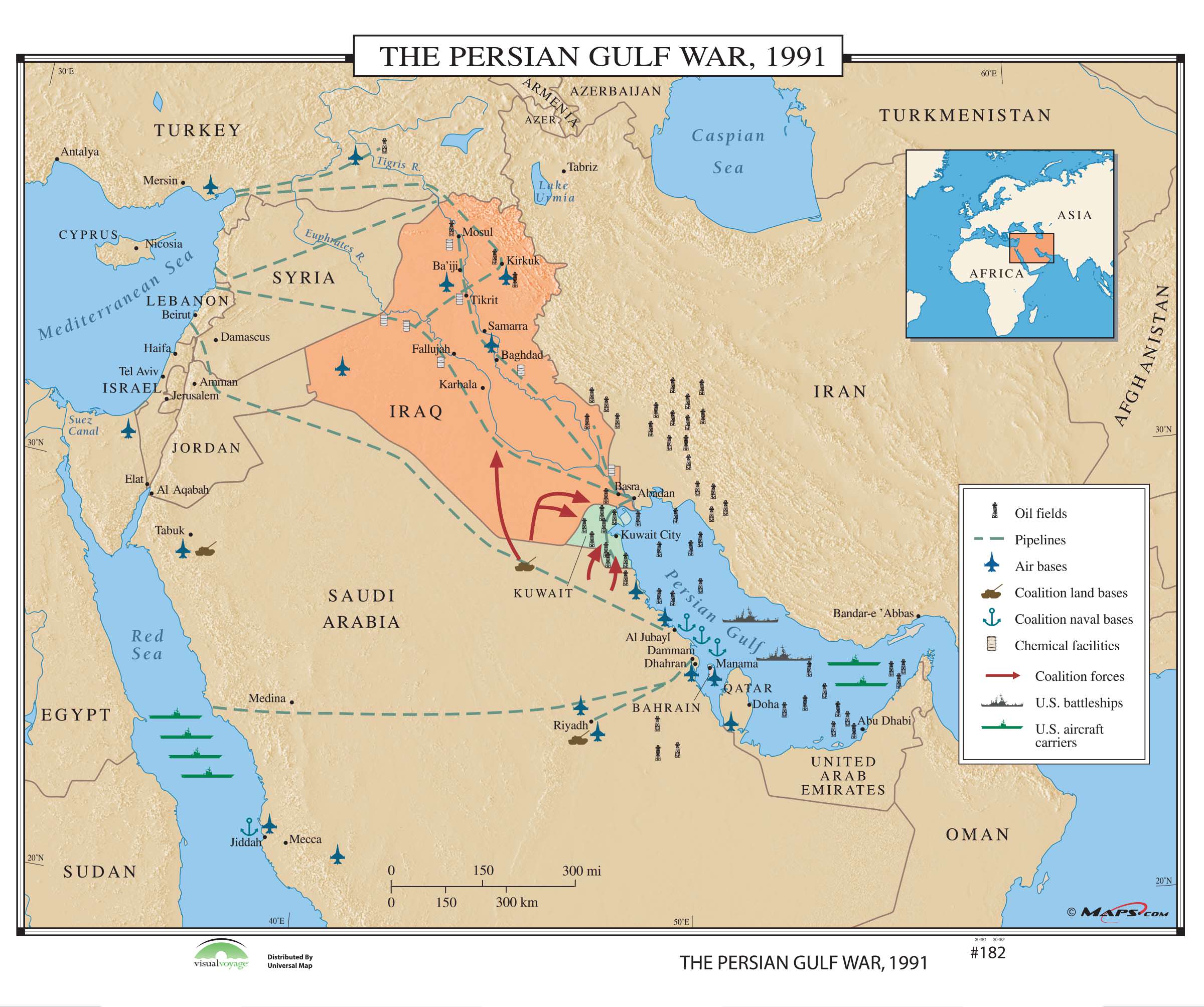 182 The Persian Gulf War, 1991 – KAPPA MAP GROUP