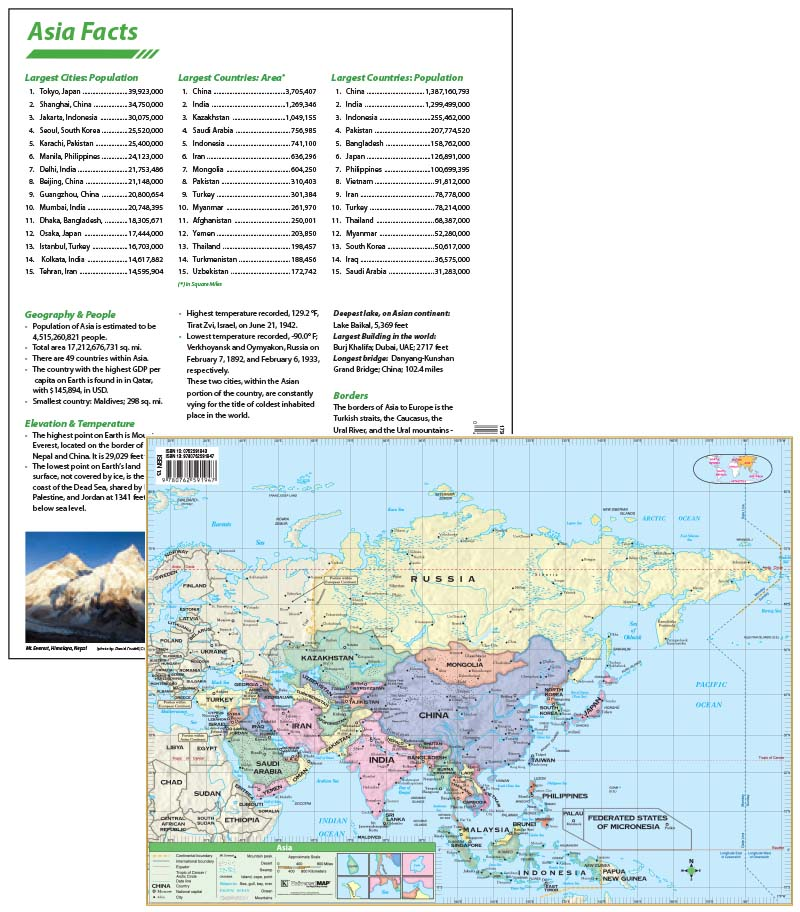Asia continent map with facts kappa map group asia continent map with facts gumiabroncs Choice Image