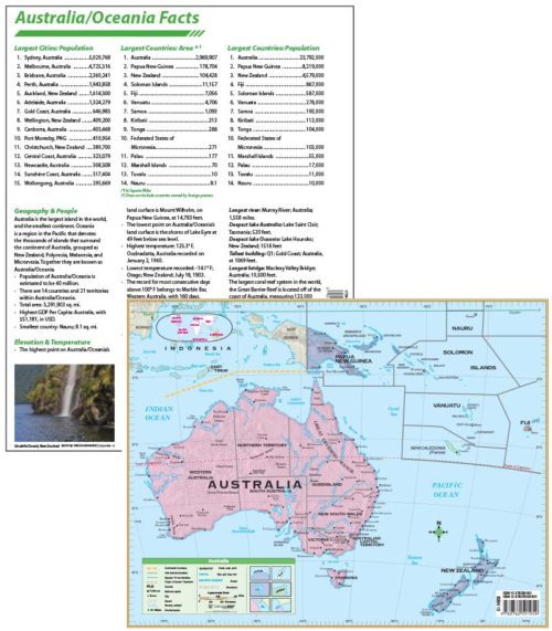 Map Of Australia Facts.Australia Continent Map With Facts