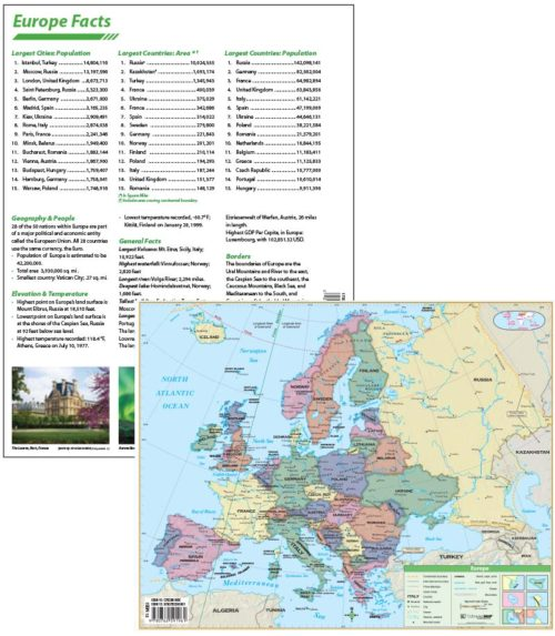 Europe Continent Map with facts on